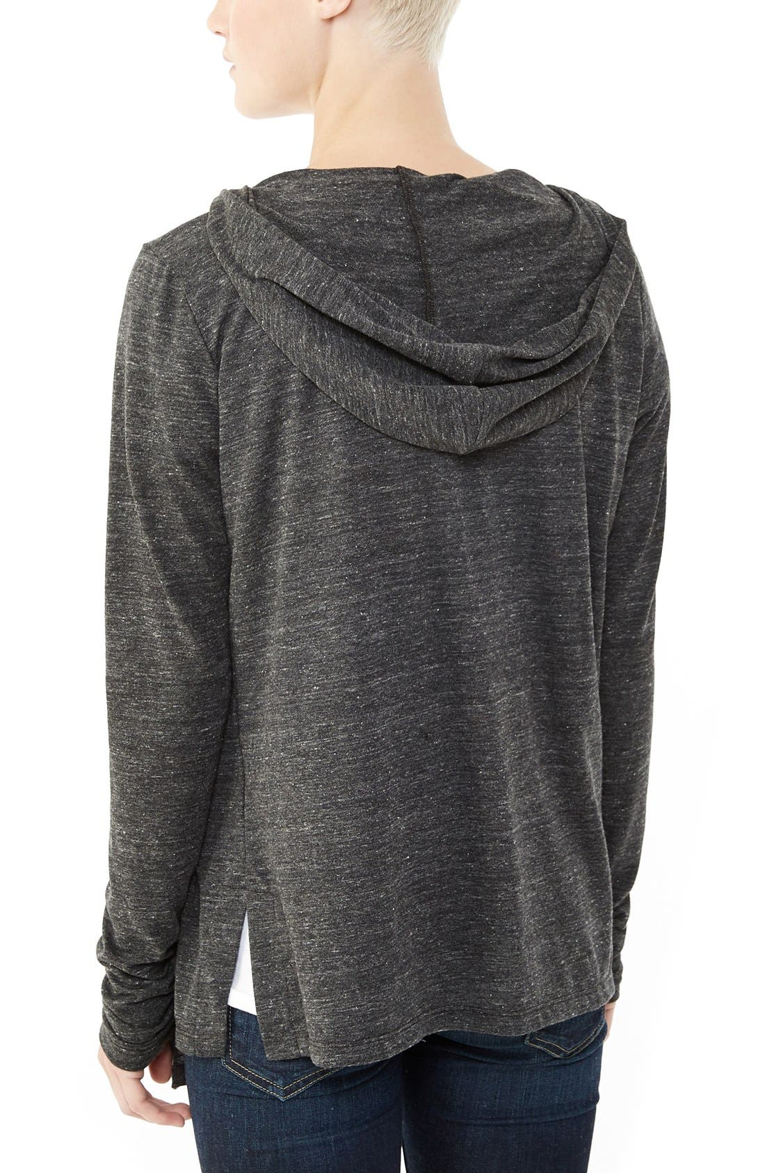 Hooded Jersey Wrap,                             Alternate thumbnail 2, color,                             Eco Black