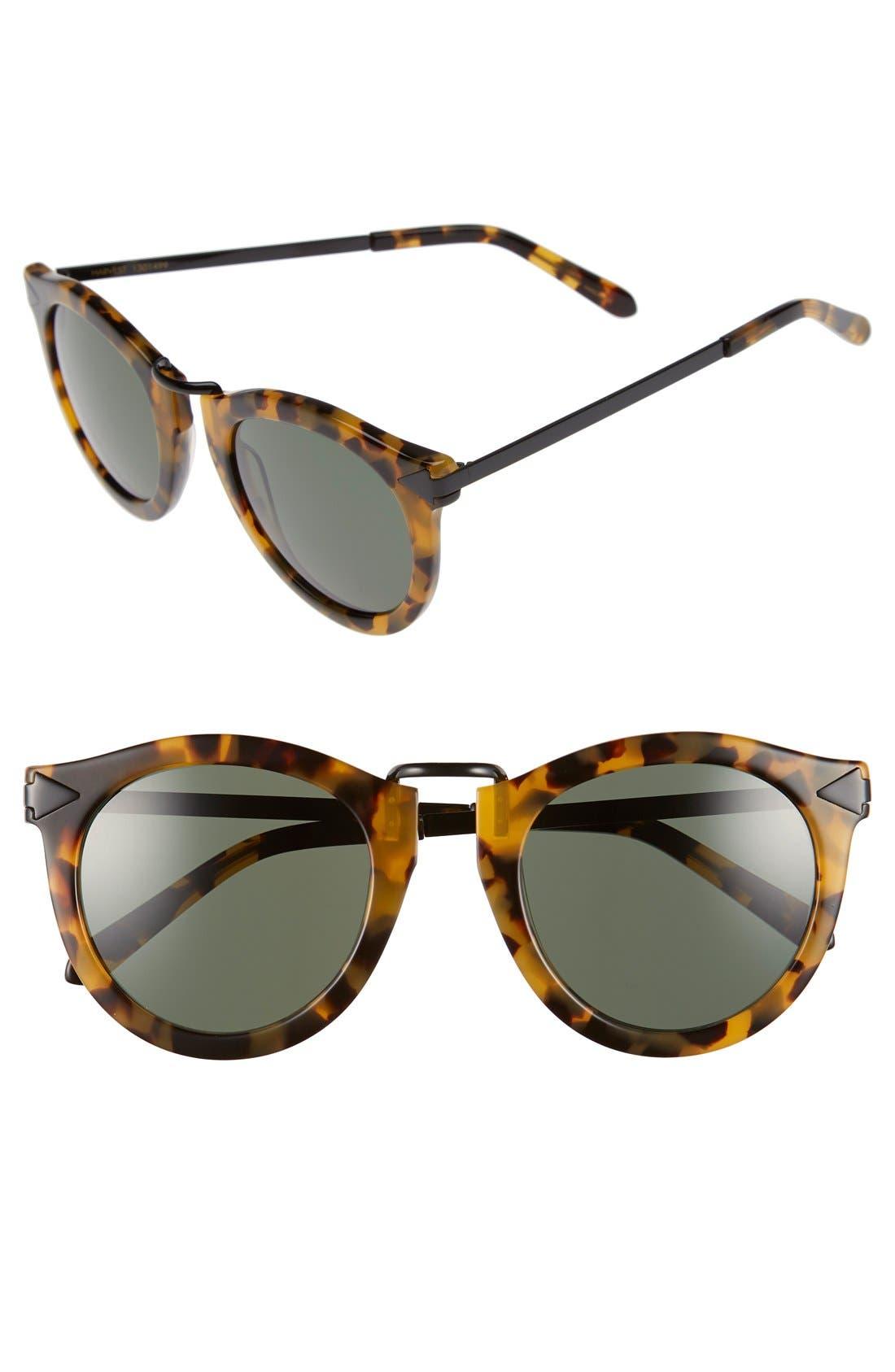'Harvest' 50mm Sunglasses,                             Main thumbnail 1, color,                             Crazy Tortoise