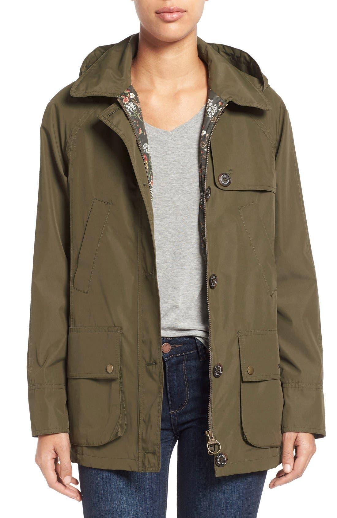 'Wytherstone' Waterproof Rain Jacket,                         Main,                         color, Army Green