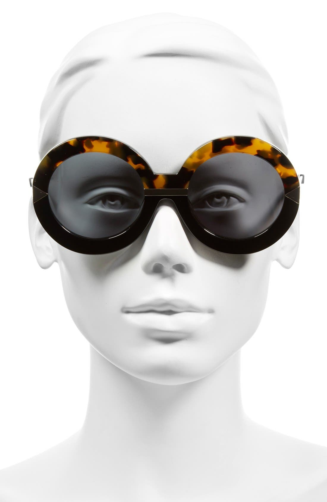 'Hollywood Pool - Arrowed by Karen' 53mm Sunglasses,                             Alternate thumbnail 2, color,                             Crazy Tort/ Black/ Gold