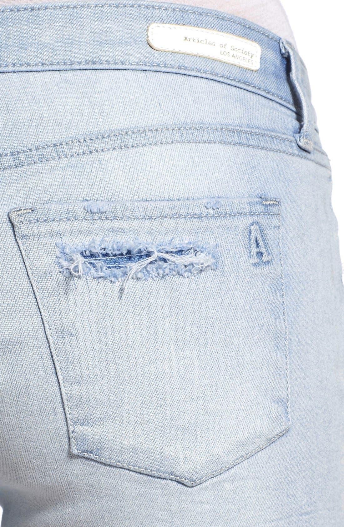 Alternate Image 5  - Articles of Society 'Madre' Denim Shorts (Cozumel)