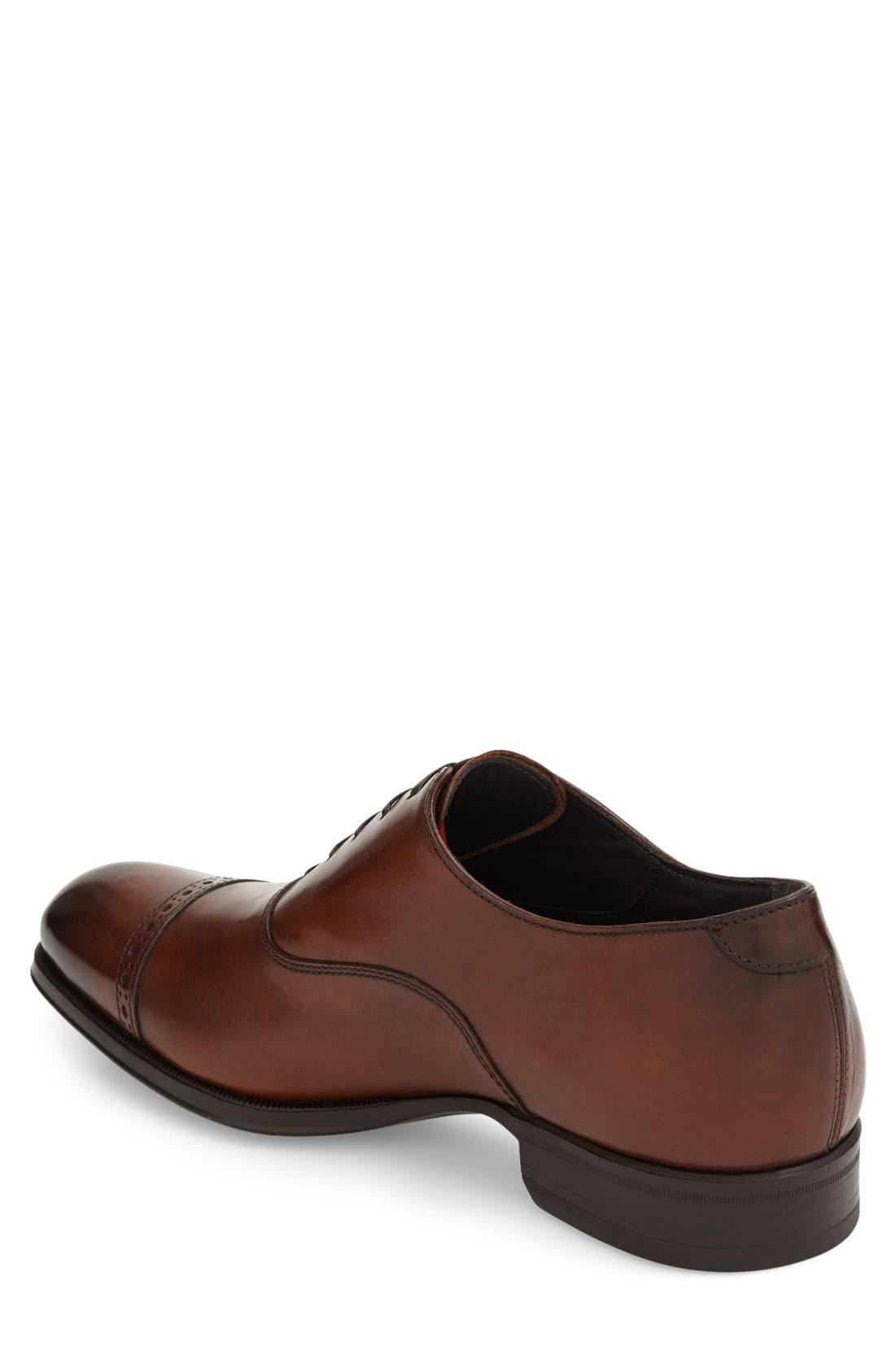 'Derek' Cap Toe Oxford,                             Alternate thumbnail 2, color,                             Tan