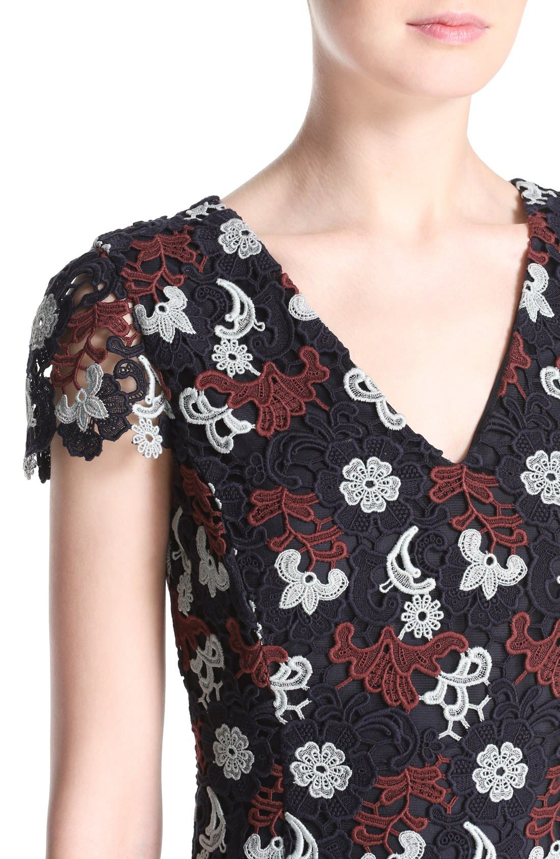 Alternate Image 4  - Tory Burch Cap Sleeve Guipure Lace Dress