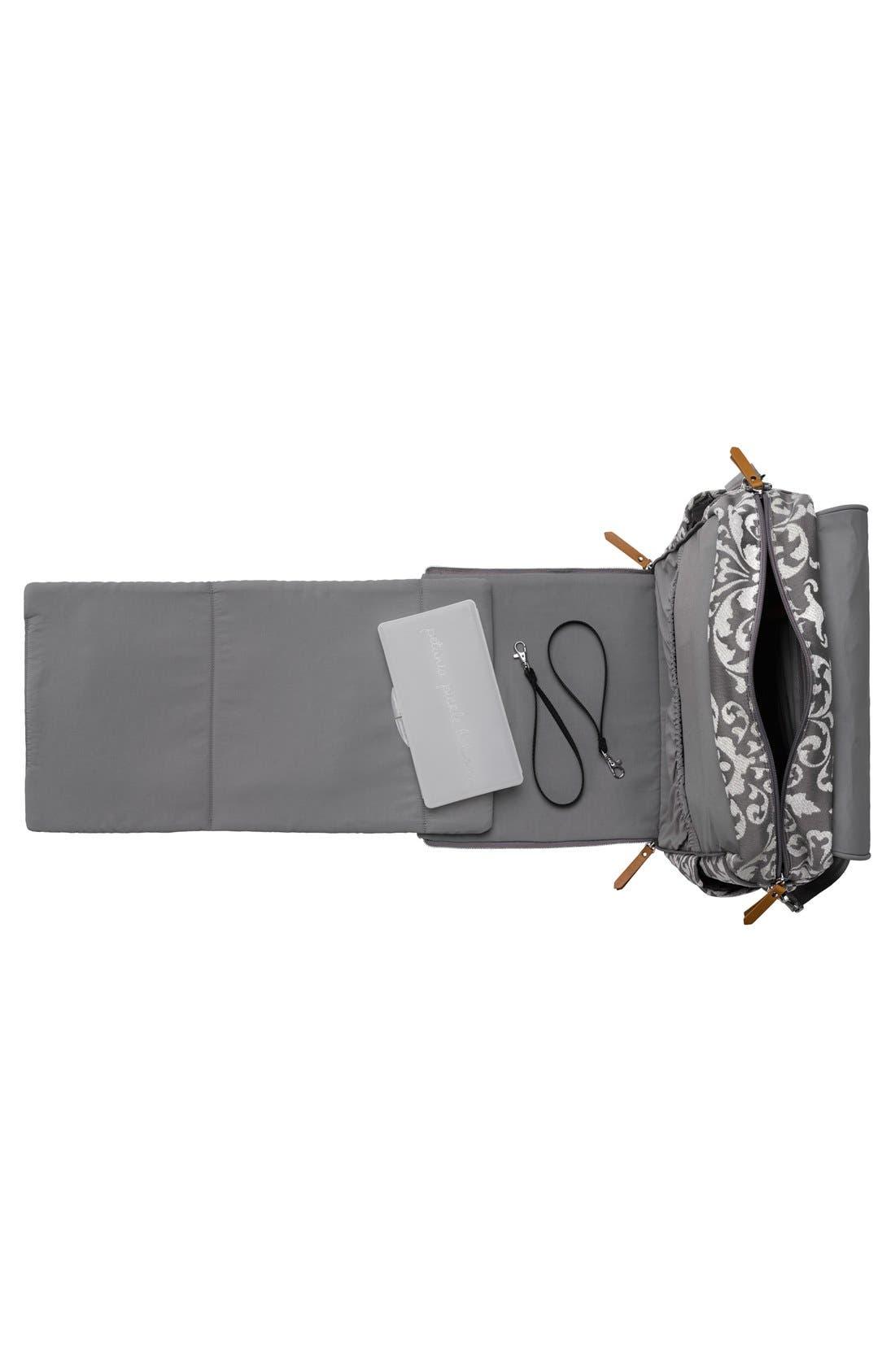 Alternate Image 4  - Petunia Pickle Bottom 'Boxy' Chenille Convertible Diaper Backpack