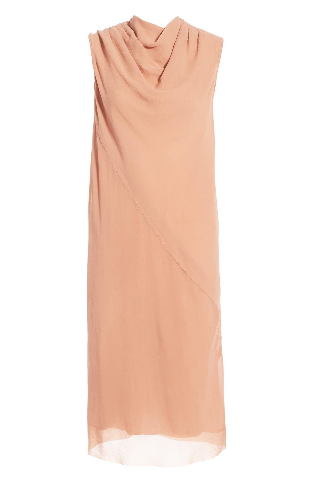 Alternate Image 4  - Rick Owens 'Bonnie' Sleeveless Silk Georgette Sheath Dress