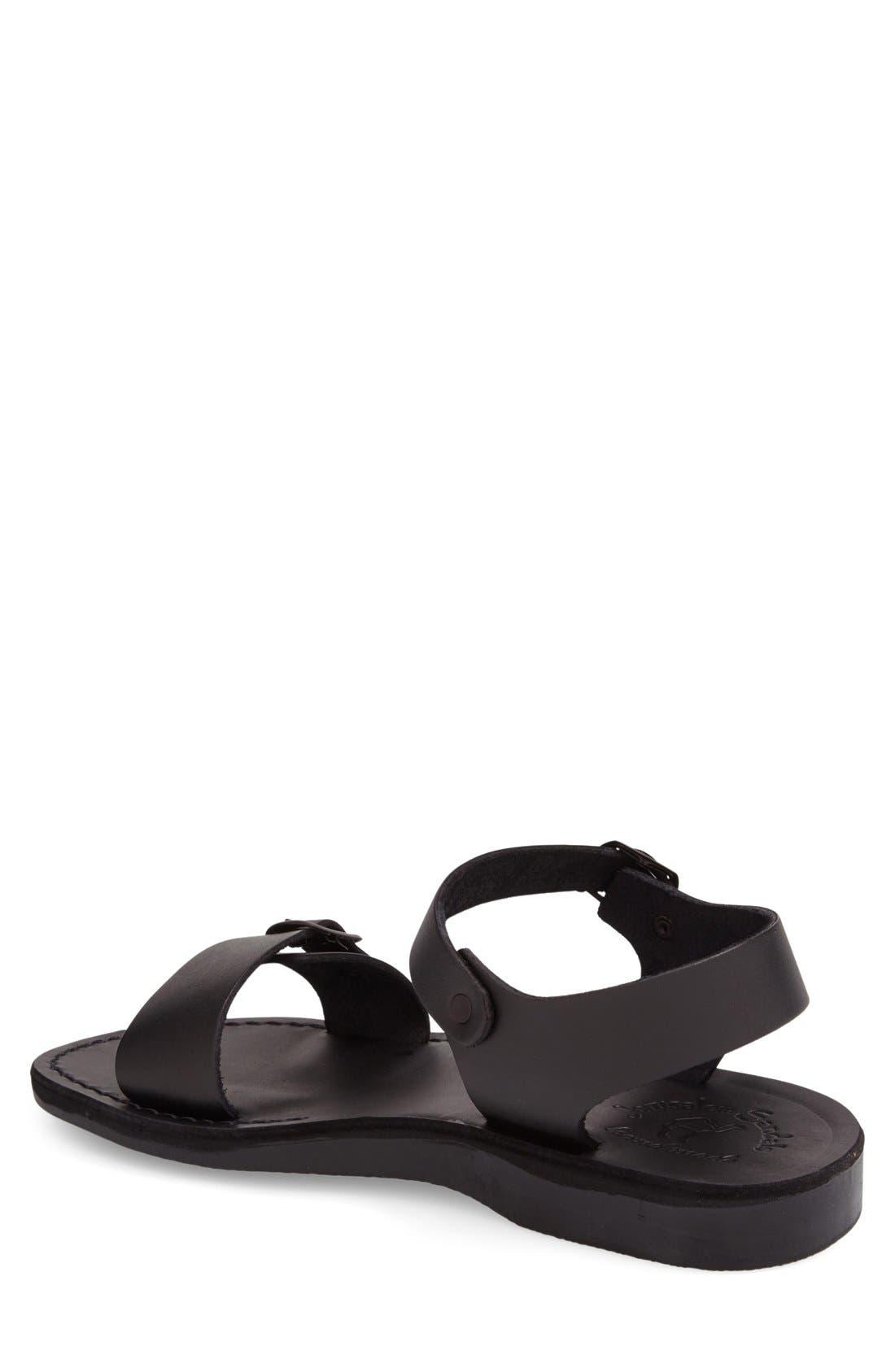 'The Original' Sandal,                             Alternate thumbnail 2, color,                             Black Leather