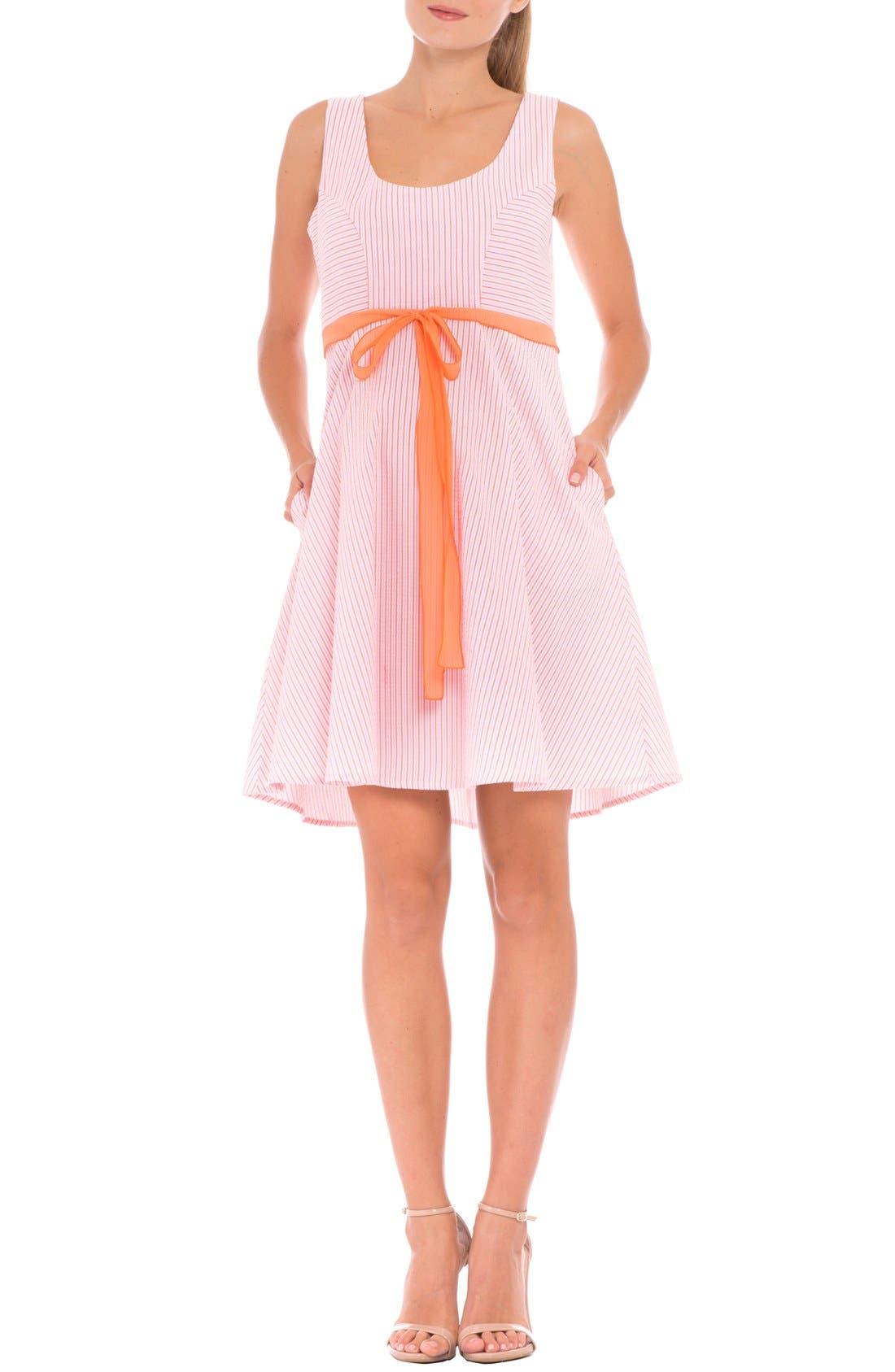 Olian 'Ava' Seersucker Maternity Dress