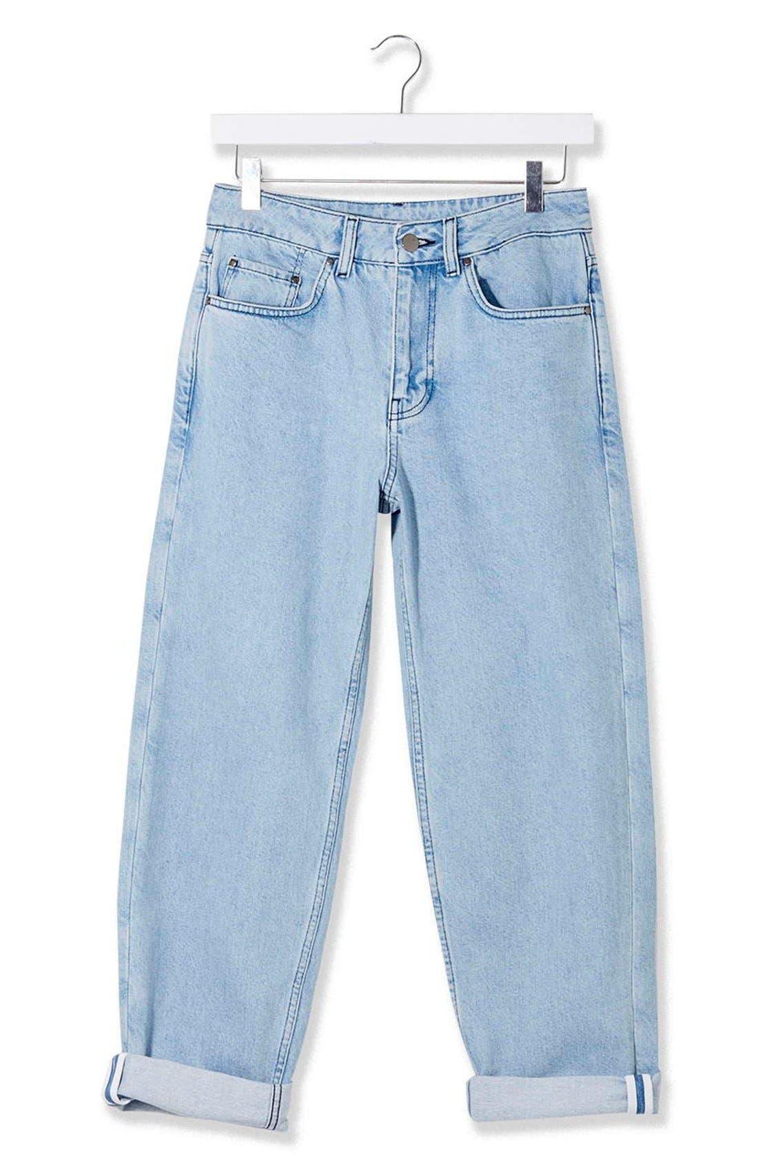 Alternate Image 5  - Topshop Boutique Wide Leg Jeans
