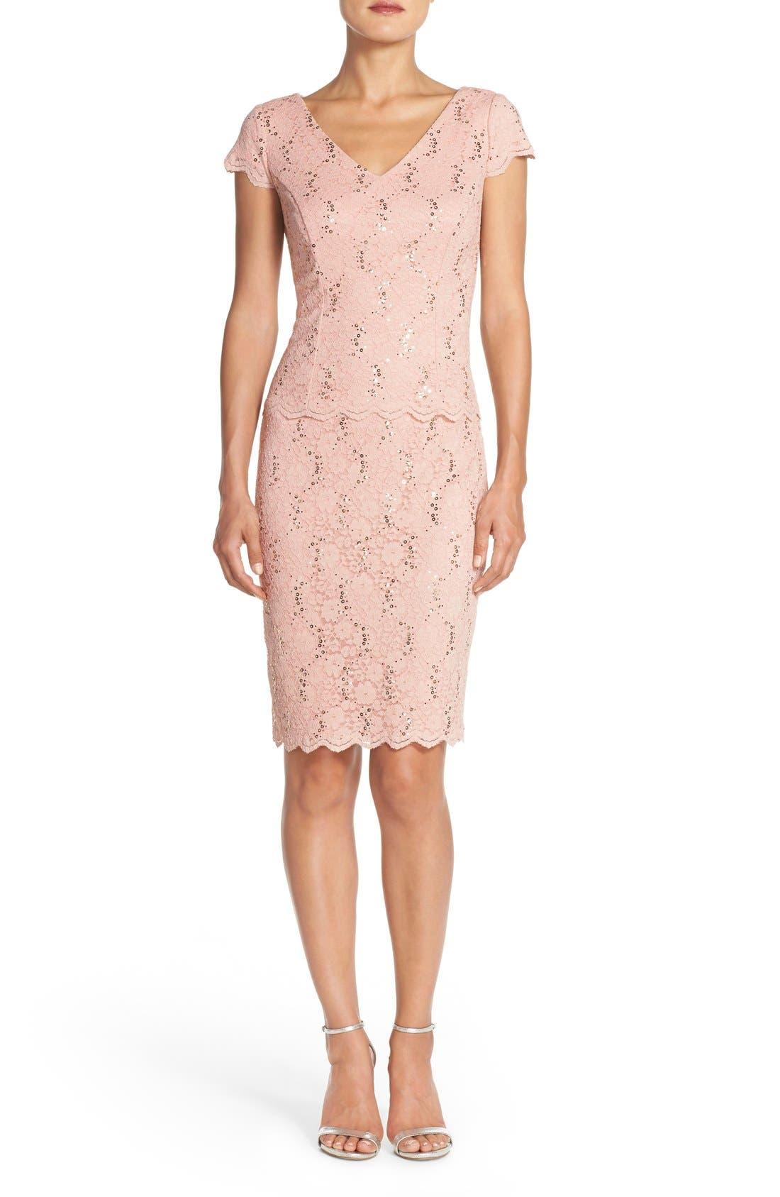 Alternate Image 4  - Alex Evenings Embellished Lace Sheath Dress