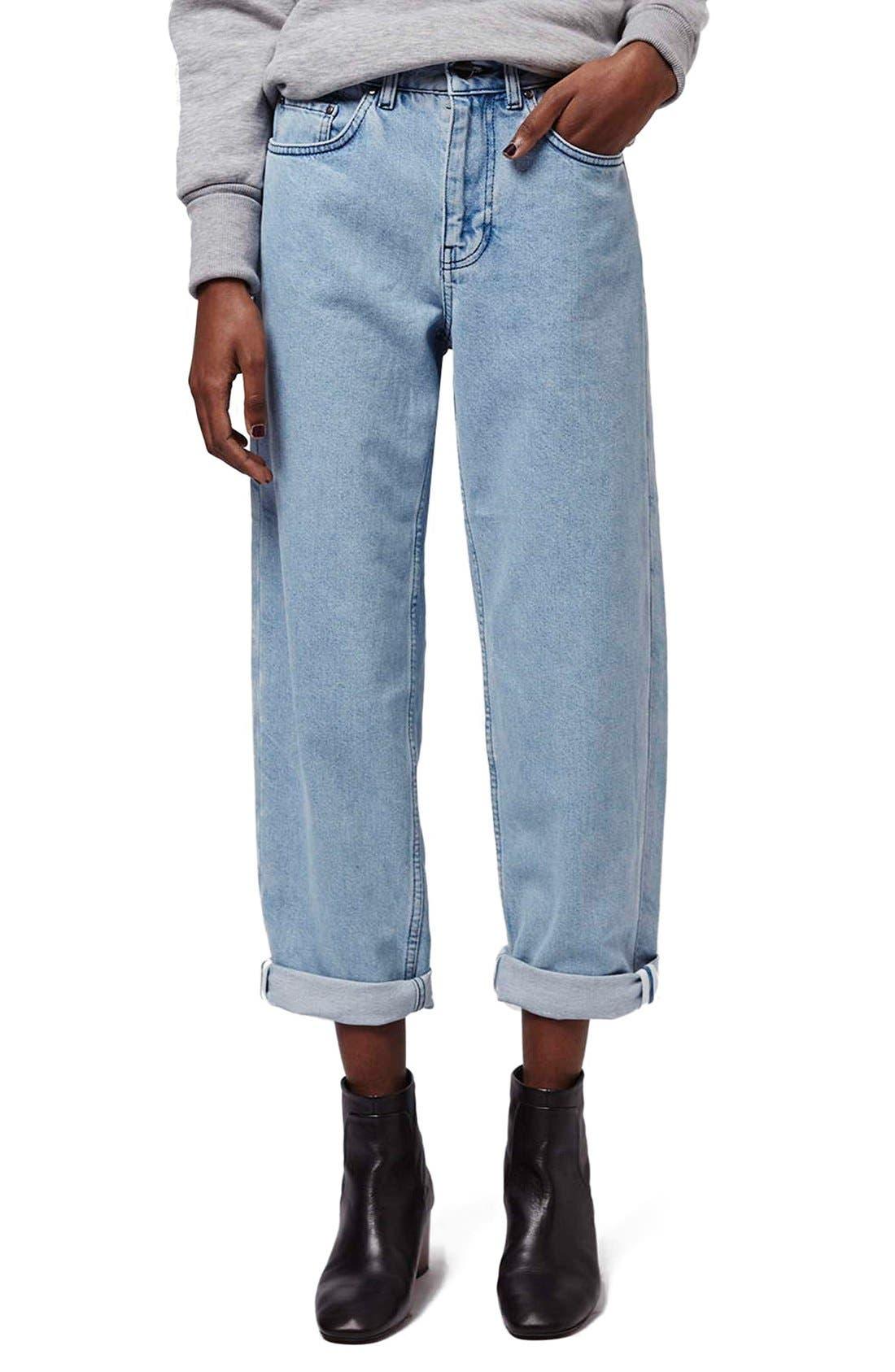 Main Image - Topshop Boutique Wide Leg Jeans