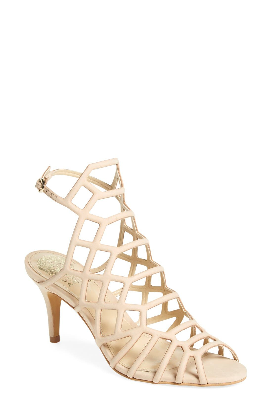 'Paxton' Slingback Sandal,                             Main thumbnail 1, color,                             Nude Leather