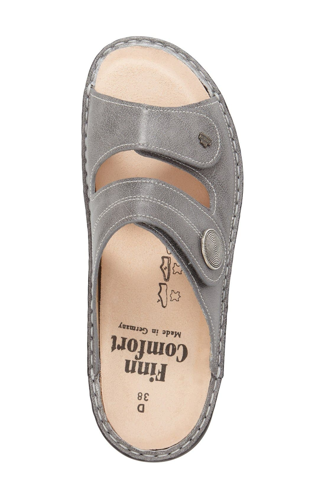 'Sansibar' Sandal,                             Alternate thumbnail 3, color,                             Grey Nappa Leather