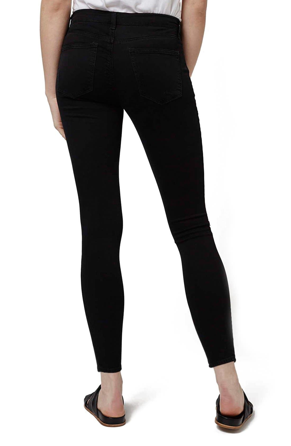 Alternate Image 3  - Topshop 'Leigh' Ripped Skinny Jeans (Petite)