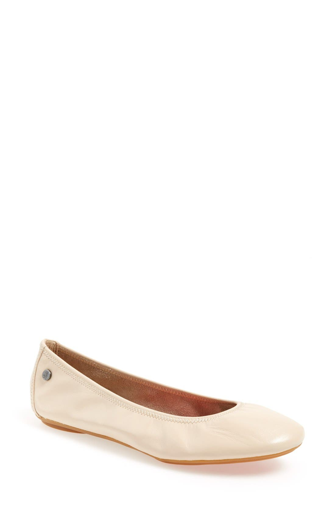 'Chaste' Ballet Flat,                             Main thumbnail 1, color,                             Nude Leather