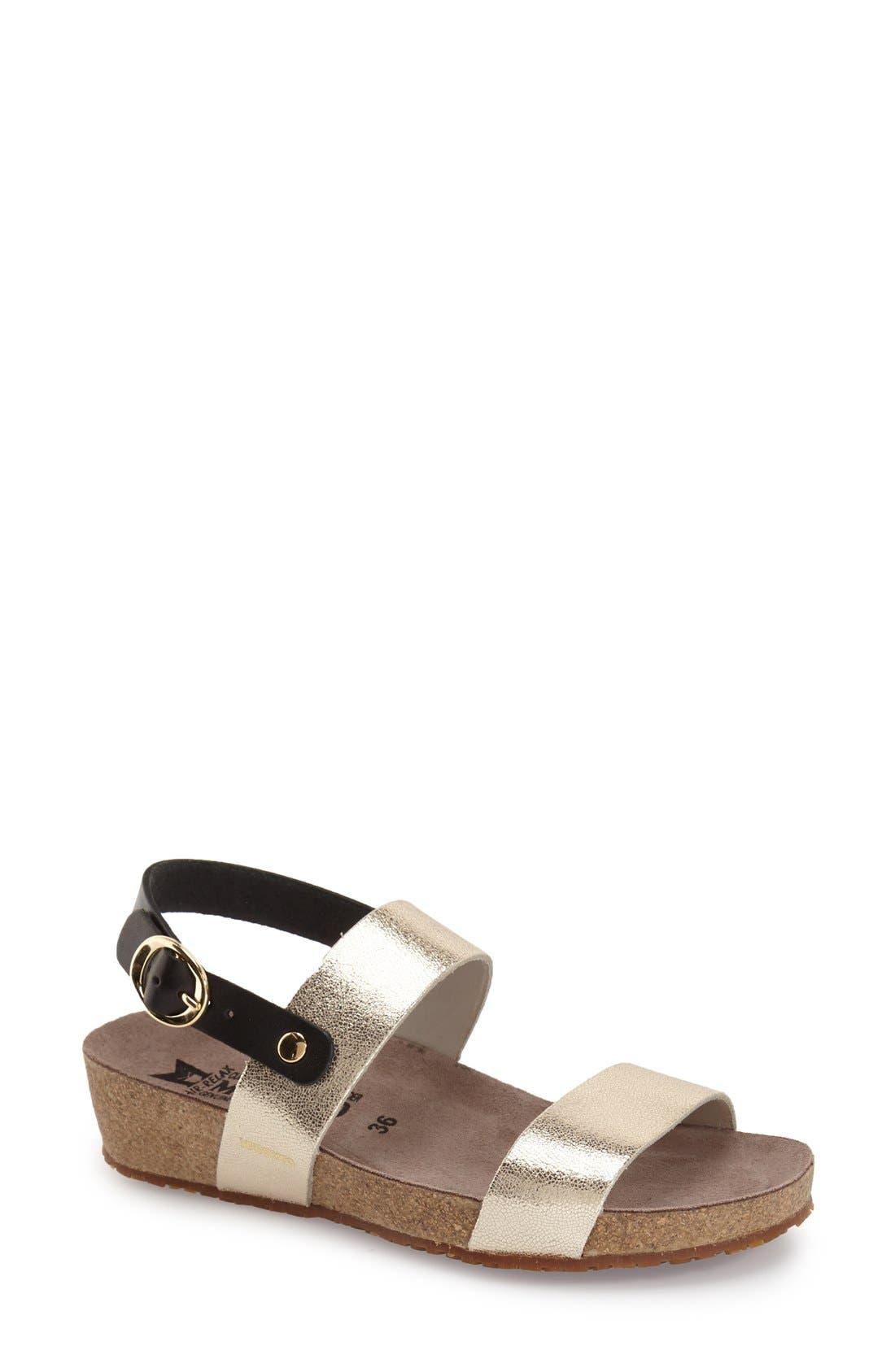 'Italia' Sandal,                             Main thumbnail 1, color,                             Platinum Leather