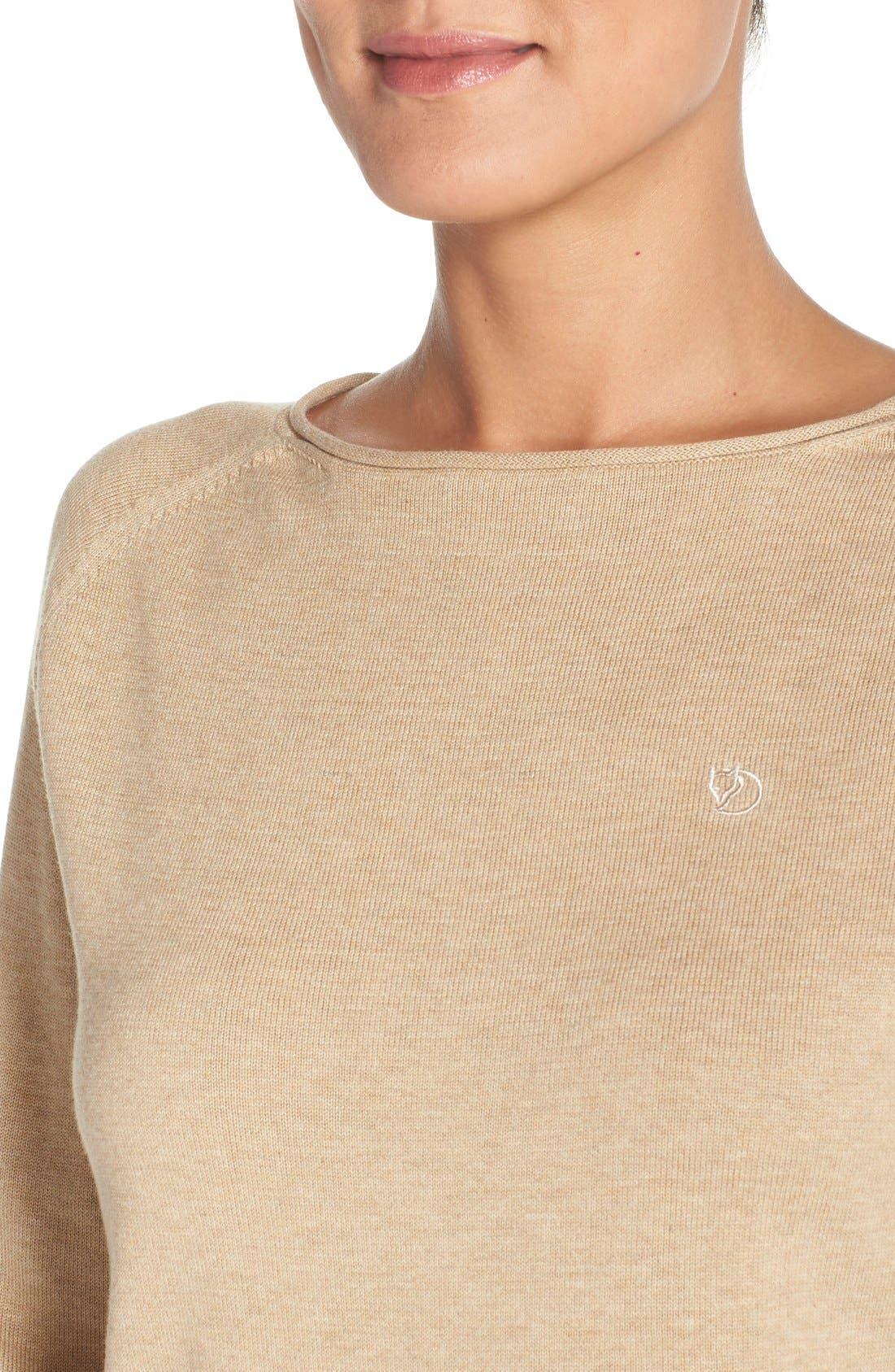 Alternate Image 4  - Fjällräven 'Vik' Cotton & Wool Pullover