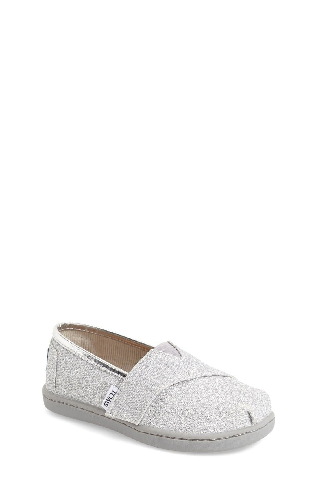 Main Image - TOMS 'Classic Tiny - Glimmer' Slip-On (Baby, Walker & Toddler)