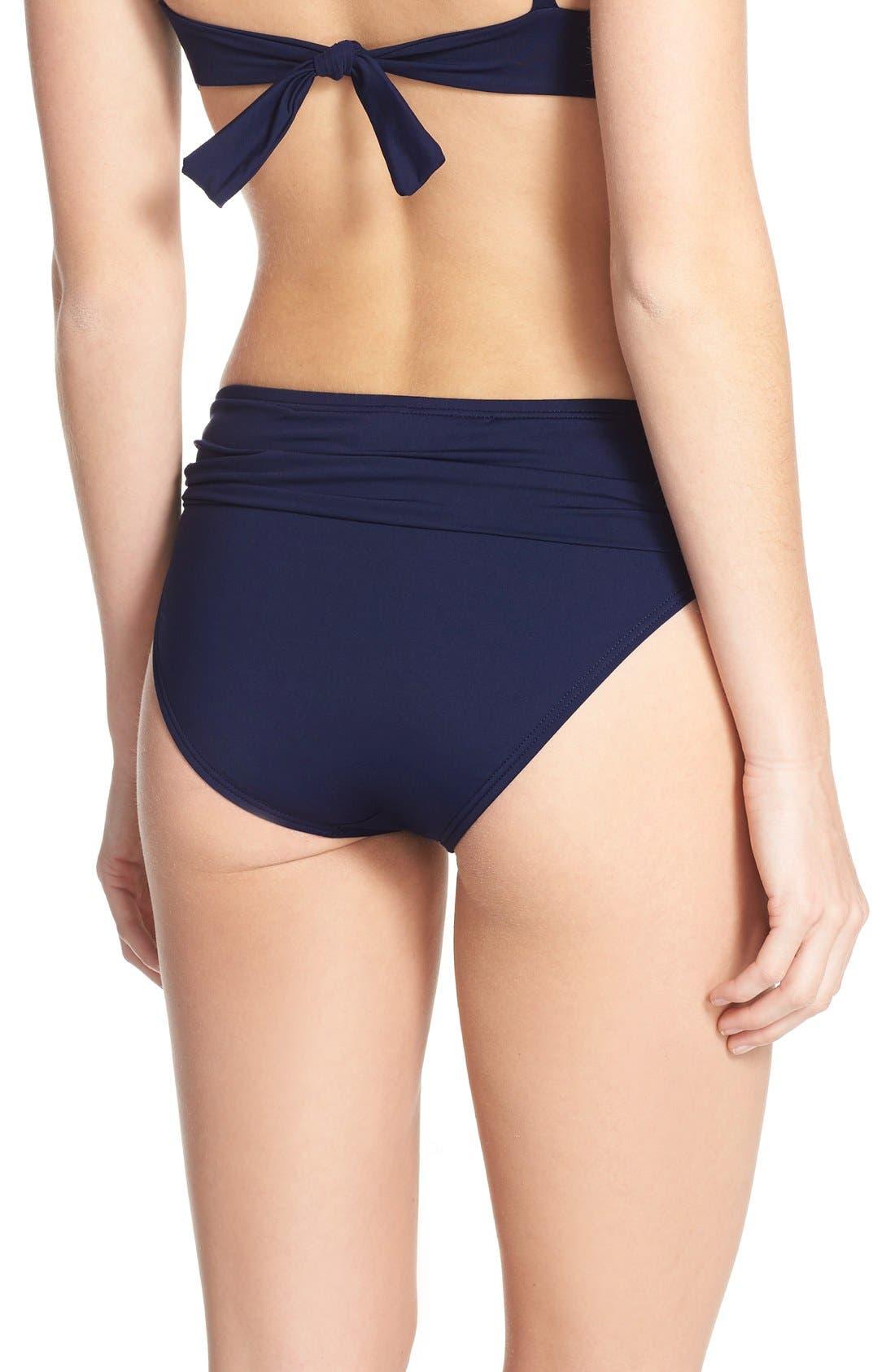 Alternate Image 2  - Tommy Bahama 'Pearl' High Waist Bikini Bottoms