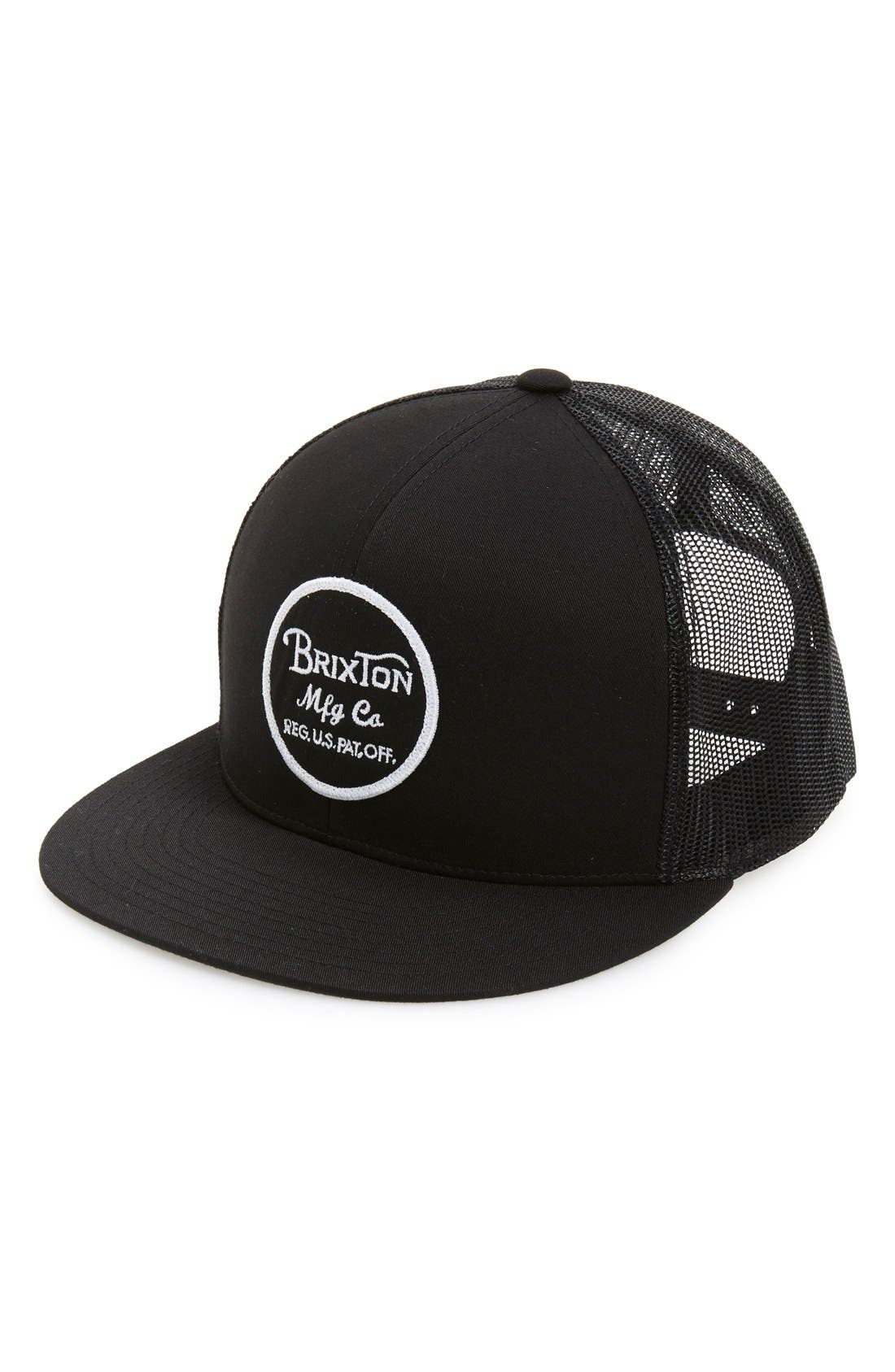 'Brood' Snapback Cap,                             Main thumbnail 1, color,                             Black/ Black