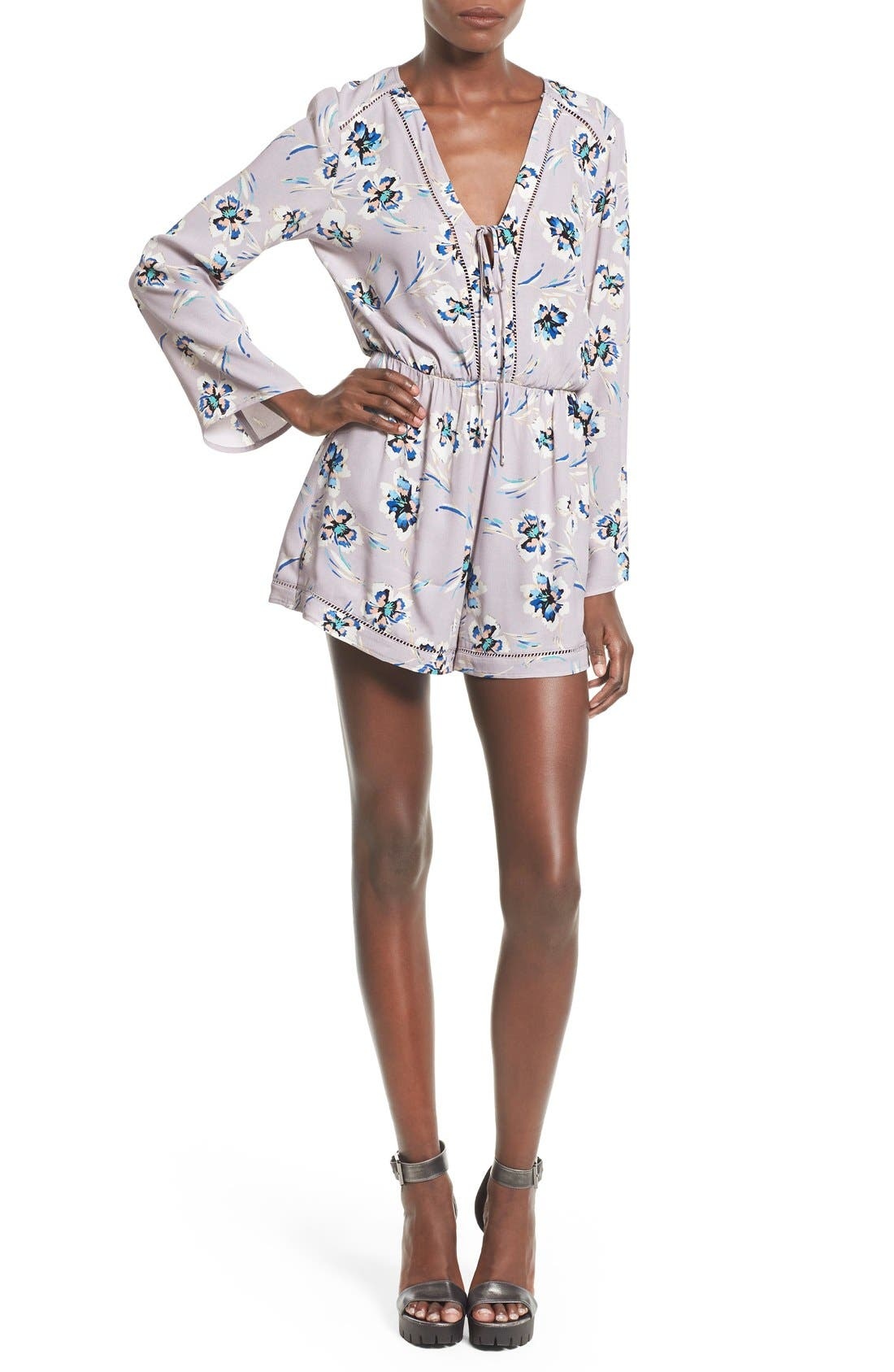 Main Image - ASTR Open Stitch Romper