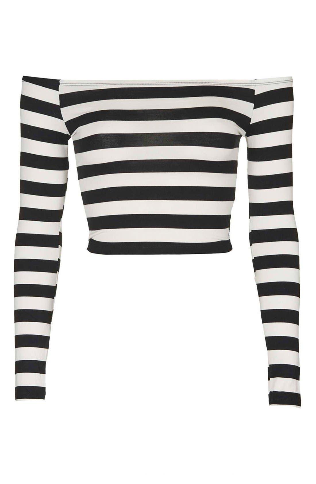 Alternate Image 4  - Topshop Stripe Off the Shoulder Top