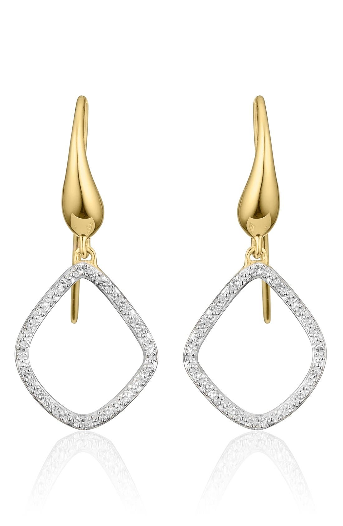 Monica Vinader 'Riva Kite' Diamond Drop Earrings
