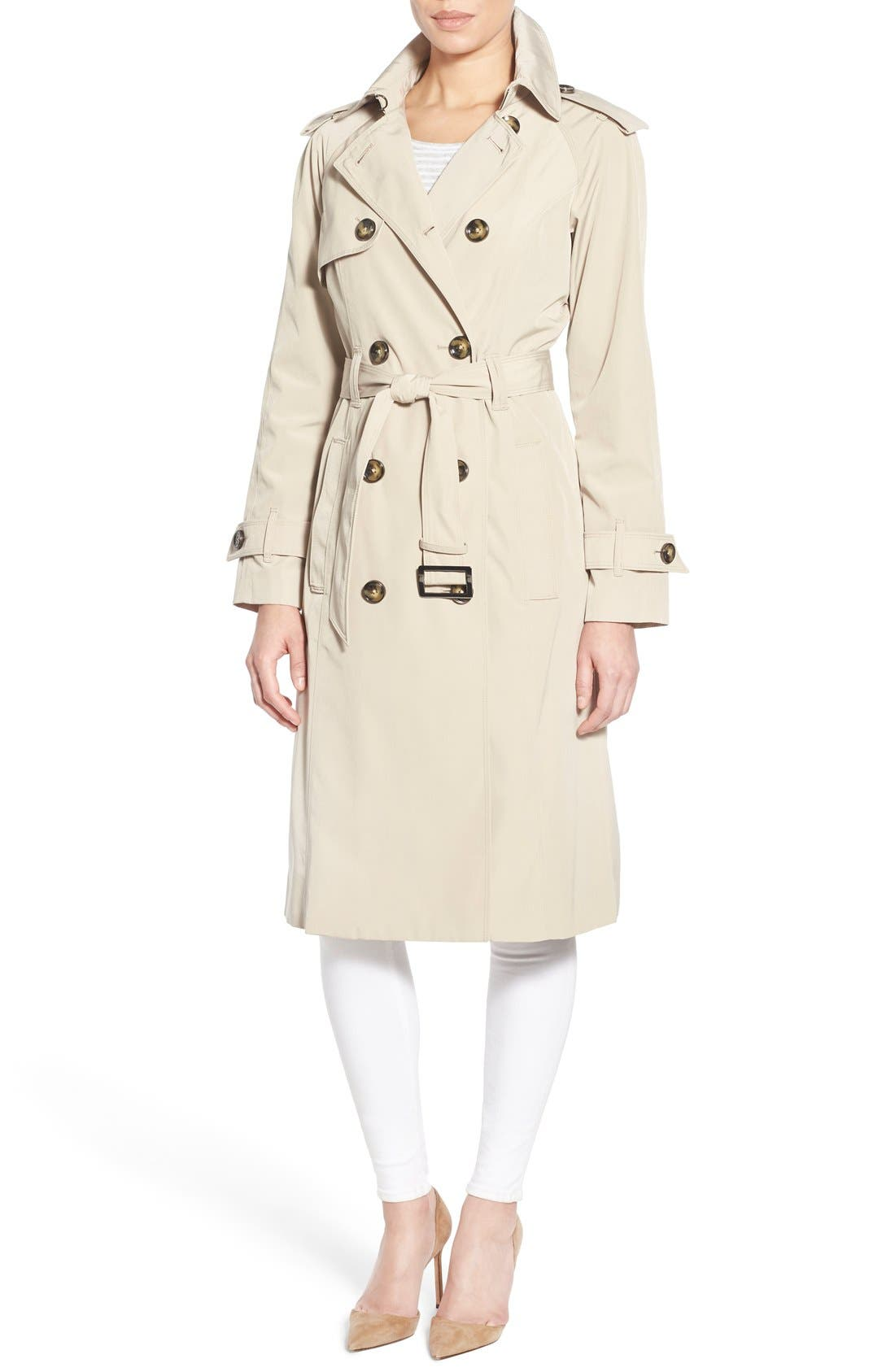 Alternate Image 4  - London Fog Double Breasted Trench Coat (Regular & Petite)