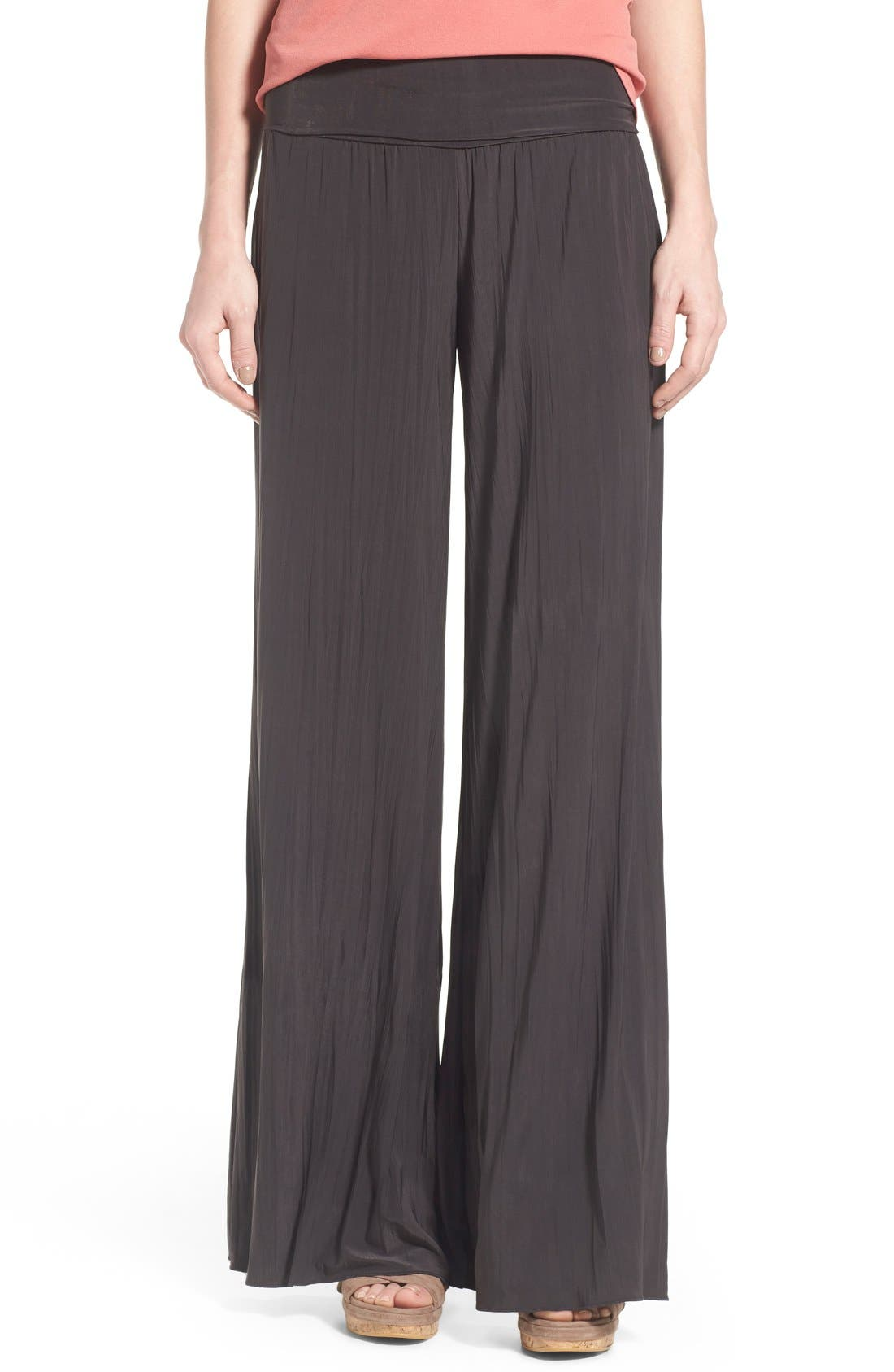 NIC+ZOE Feel Good Foldover Waist Textured Knit Pants