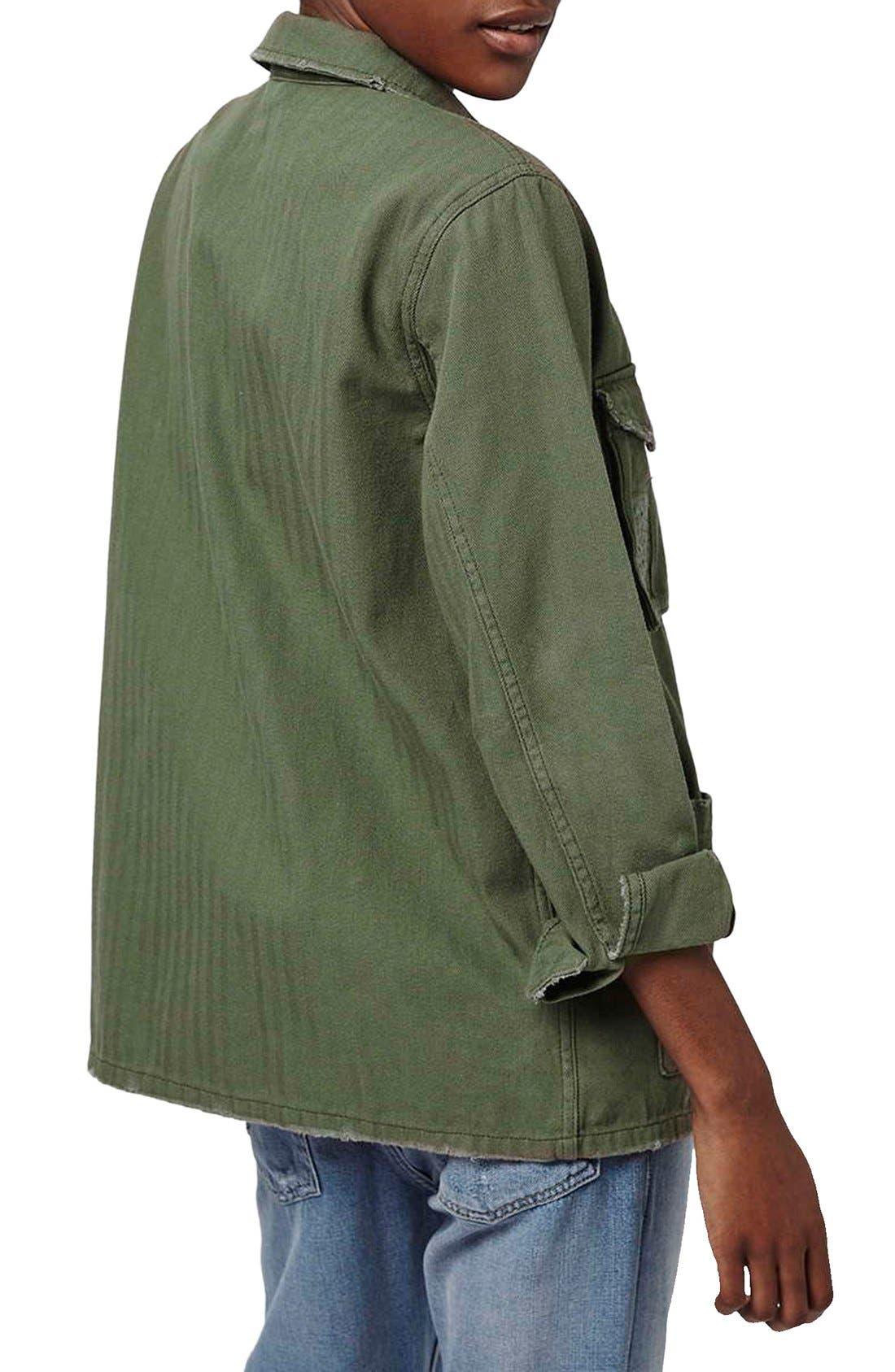 Authentic Washed Khaki Jacket,                             Alternate thumbnail 2, color,                             Olive