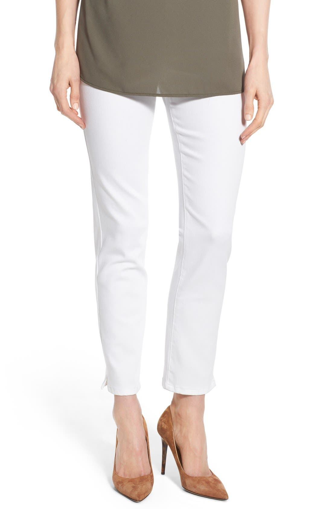 'Millie' Pull-On Stretch Ankle Skinny Jeans,                             Main thumbnail 1, color,                             Endless White