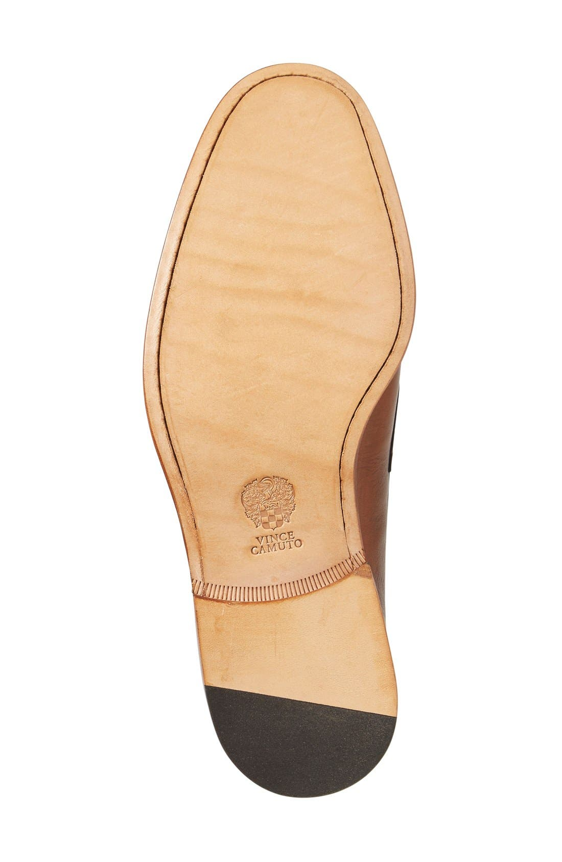 'Nacher' Loafer,                             Alternate thumbnail 3, color,                             Cognac Leather