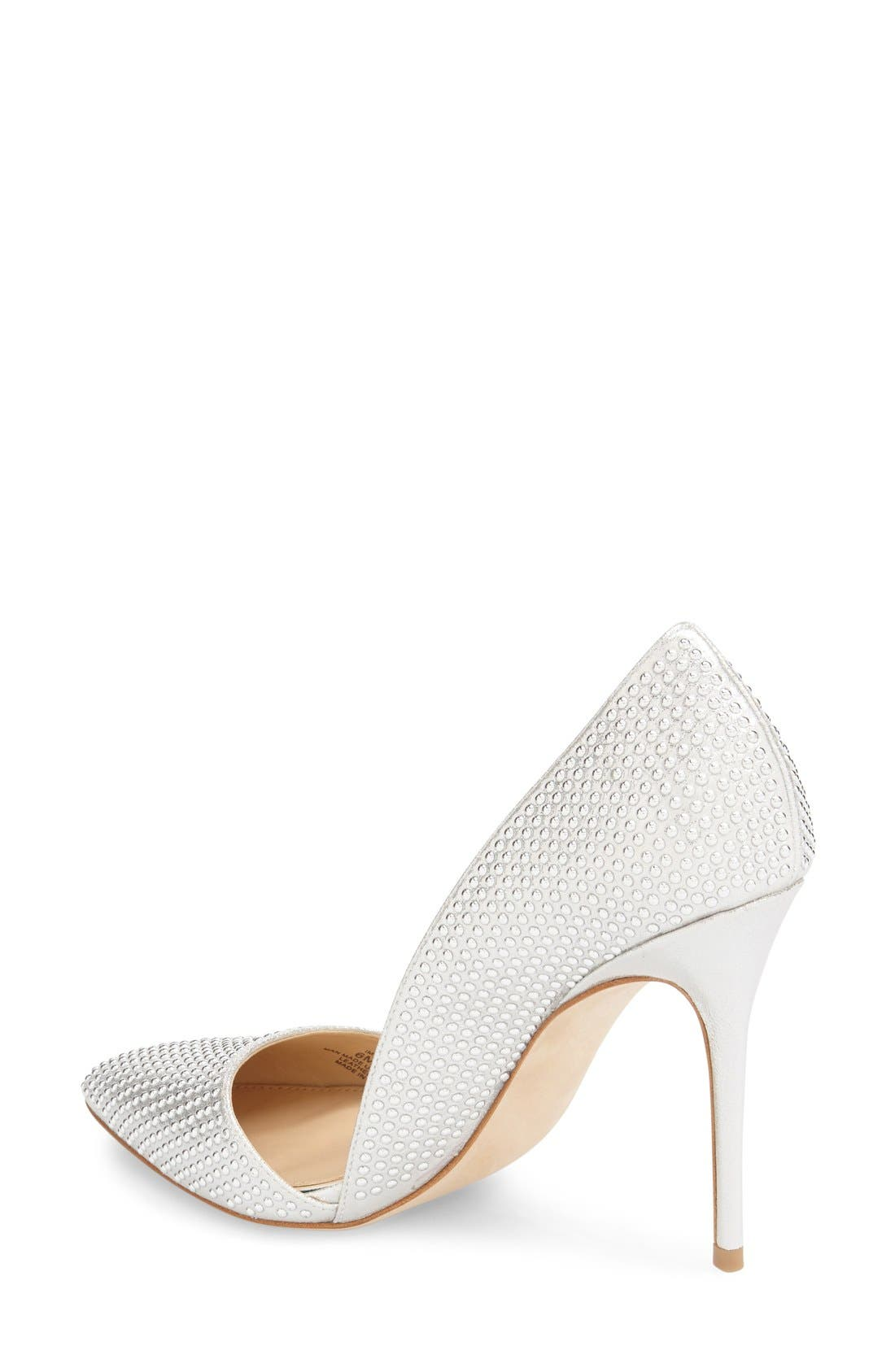 Imagine Vince Camuto 'Ossie' d'Orsay Pump,                             Alternate thumbnail 2, color,                             Platinum Shimmer