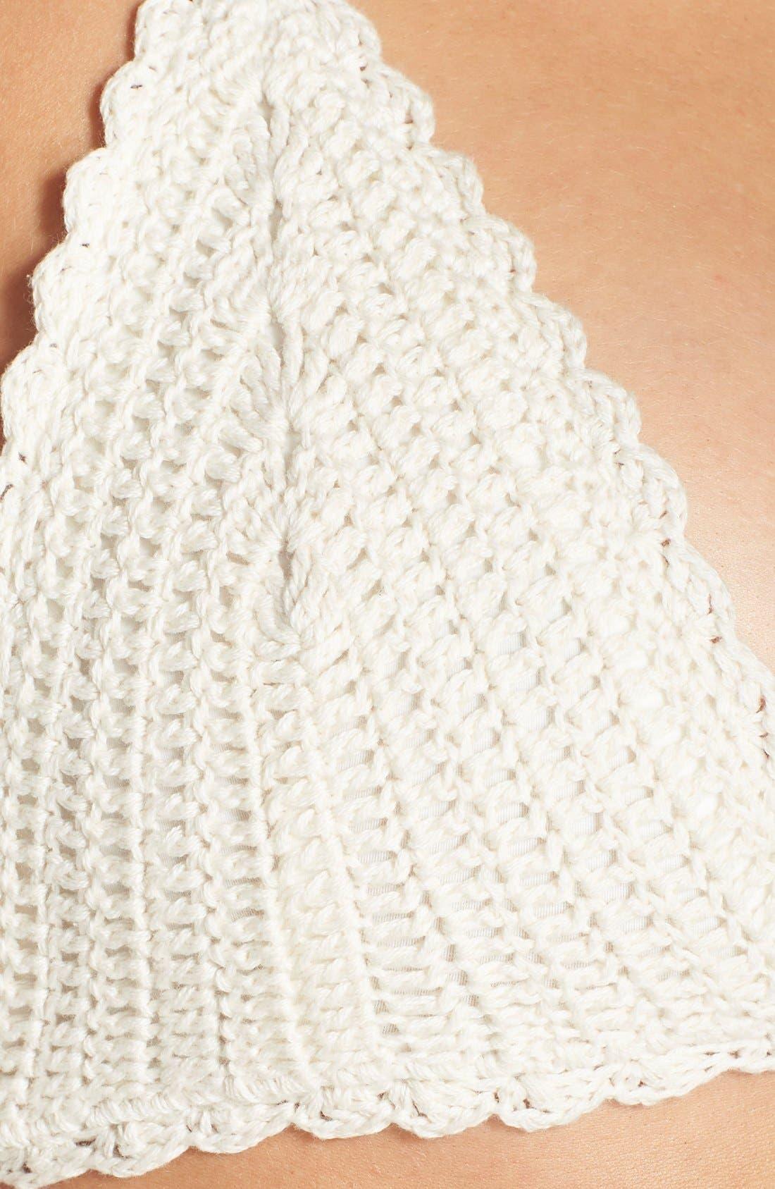 Alternate Image 6  - MINKPINK Cutout Crochet One-Piece Swimsuit