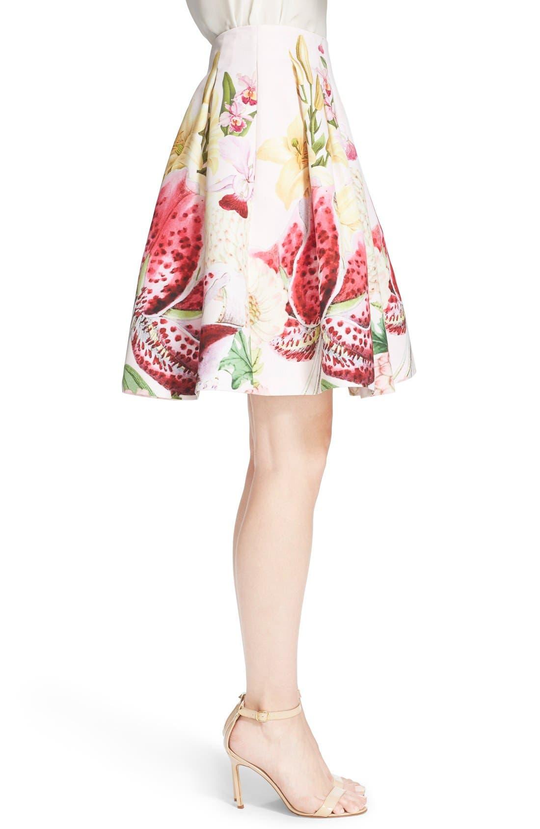 Alternate Image 3  - Ted Baker London 'Rowahn' Floral Print Full Skirt