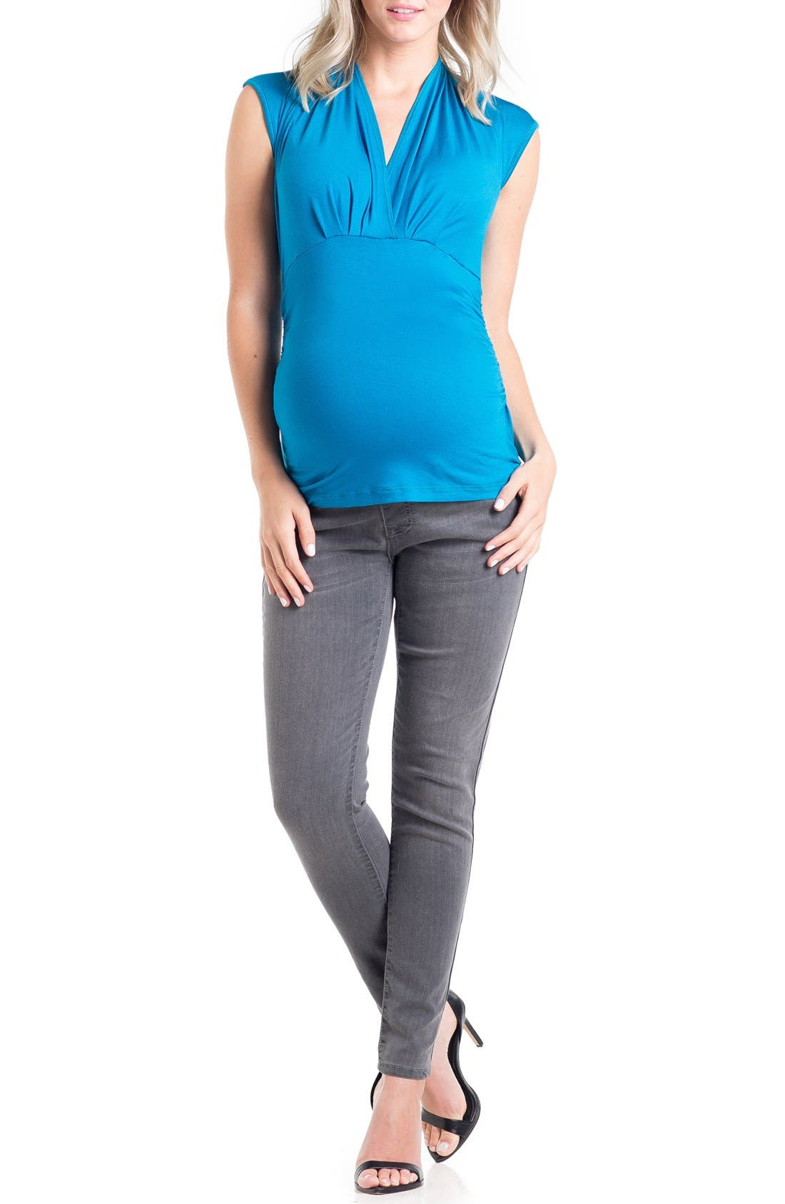 Main Image - Lilac Clothing 'Megan' V-Neck Maternity Top