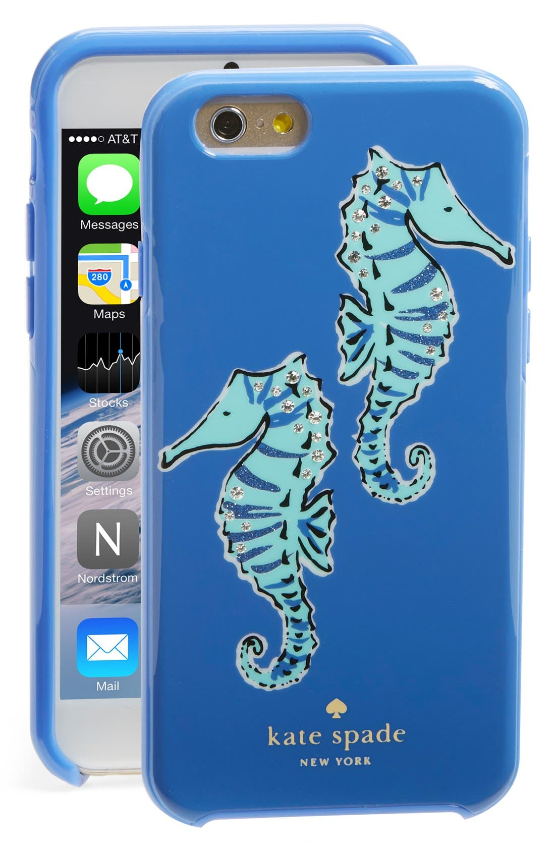 Alternate Image 1 Selected - kate spade new york 'seahorse' iPhone 6 & 6s case