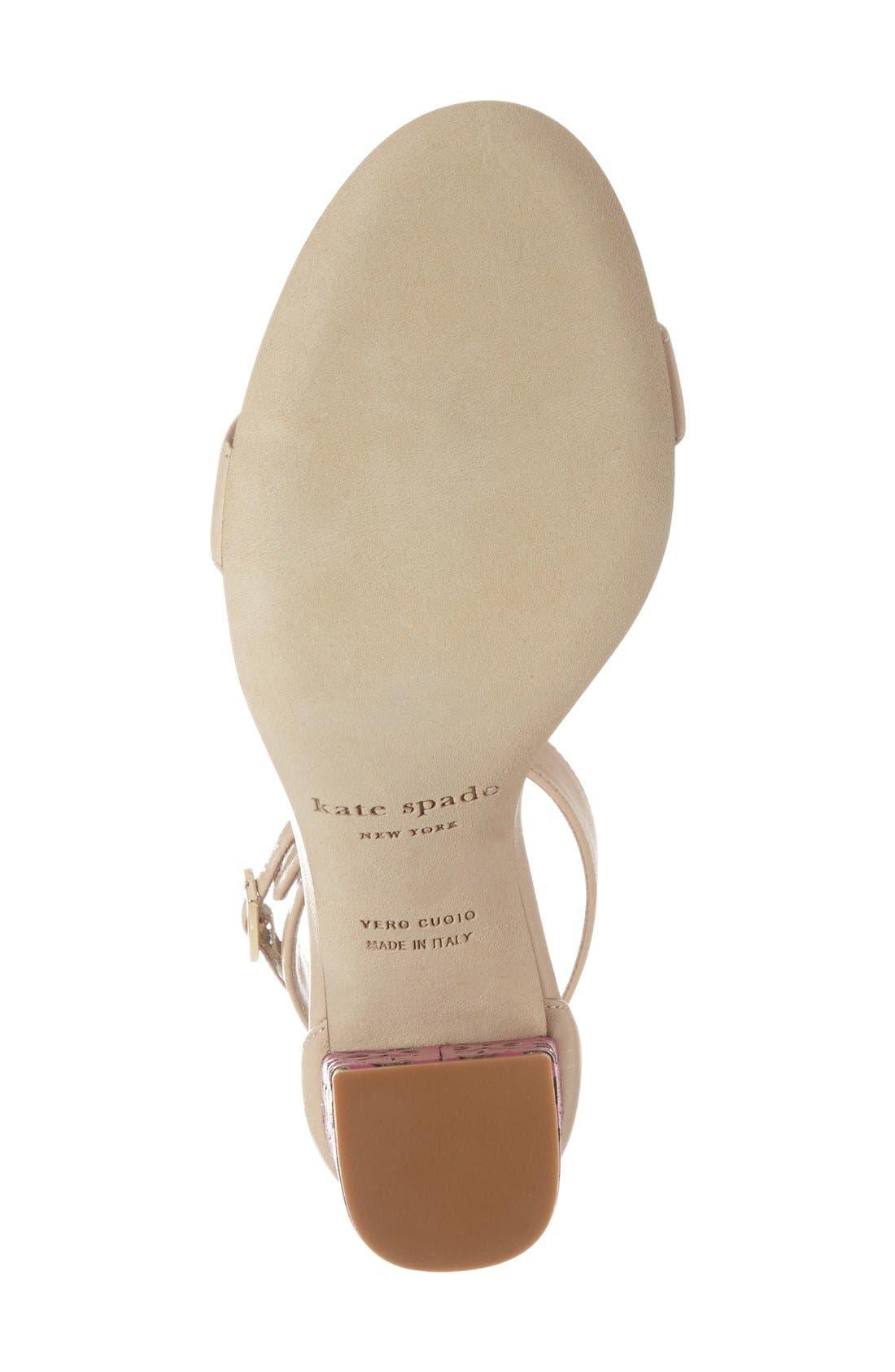 Alternate Image 4  - kate spade new york 'idelle' ankle strap block heel sandal (Women)