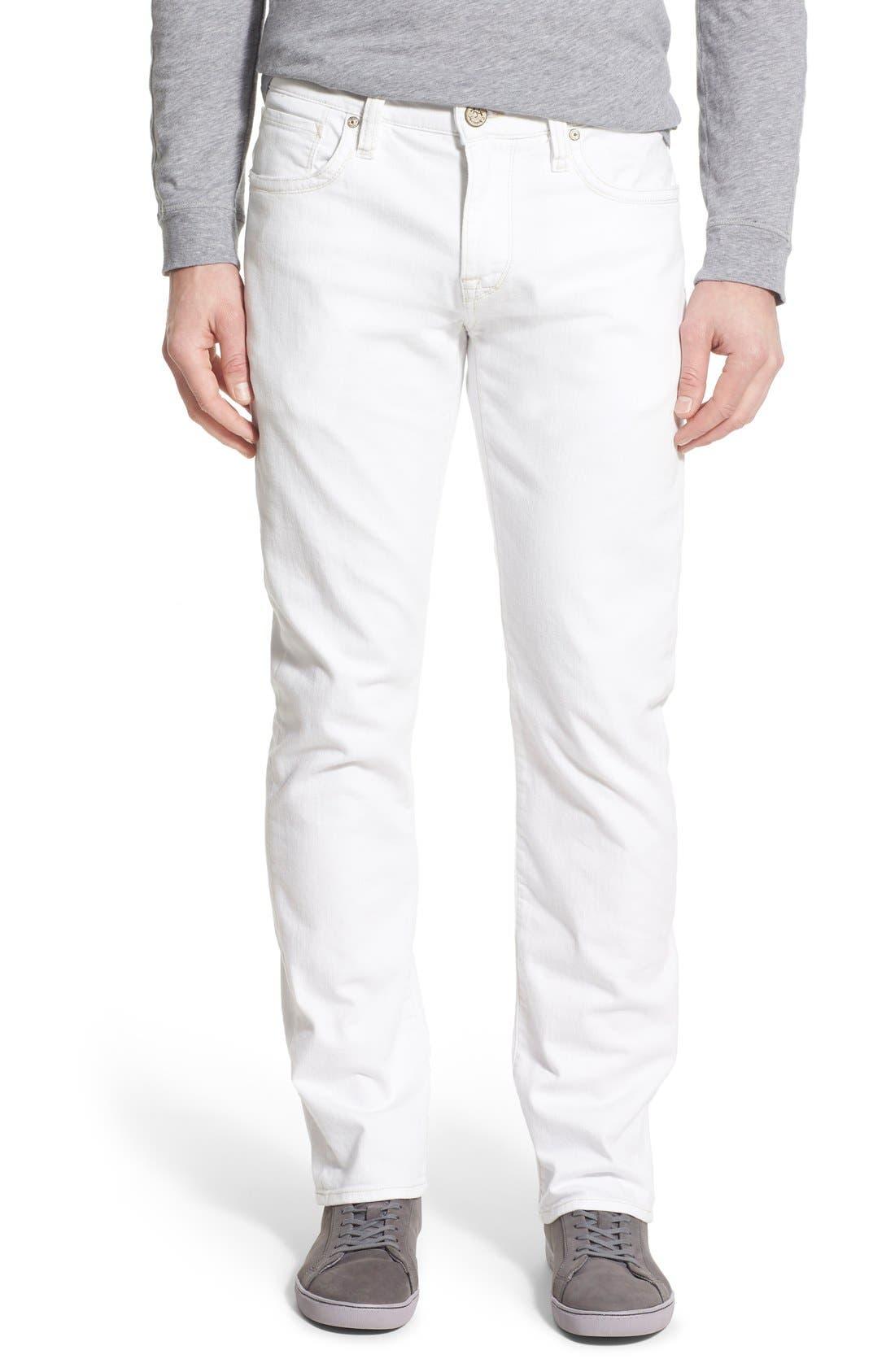 'Courage' Straight Leg Jeans,                         Main,                         color, White Denim