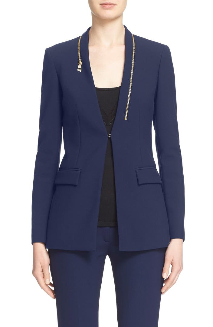 Versace collection zip detail cady blazer nordstrom for Housse zip collection captur