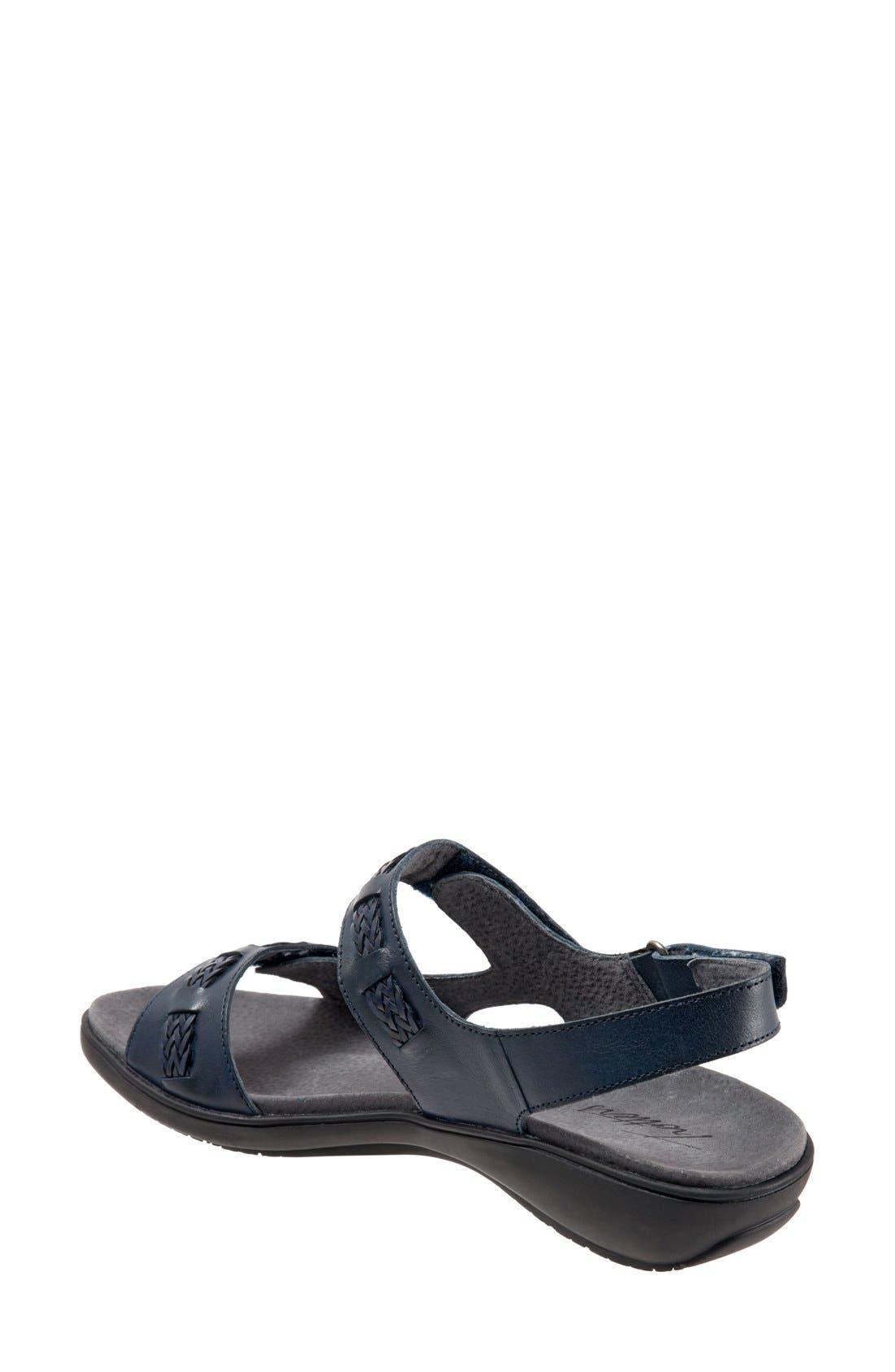 'Kip' Sandal,                             Alternate thumbnail 2, color,                             Navy Leather