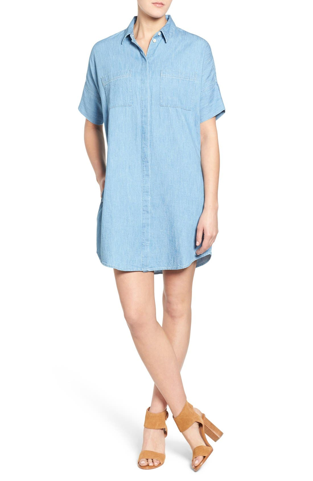 Alternate Image 1 Selected - Madewell 'Courier' Denim Shirtdress