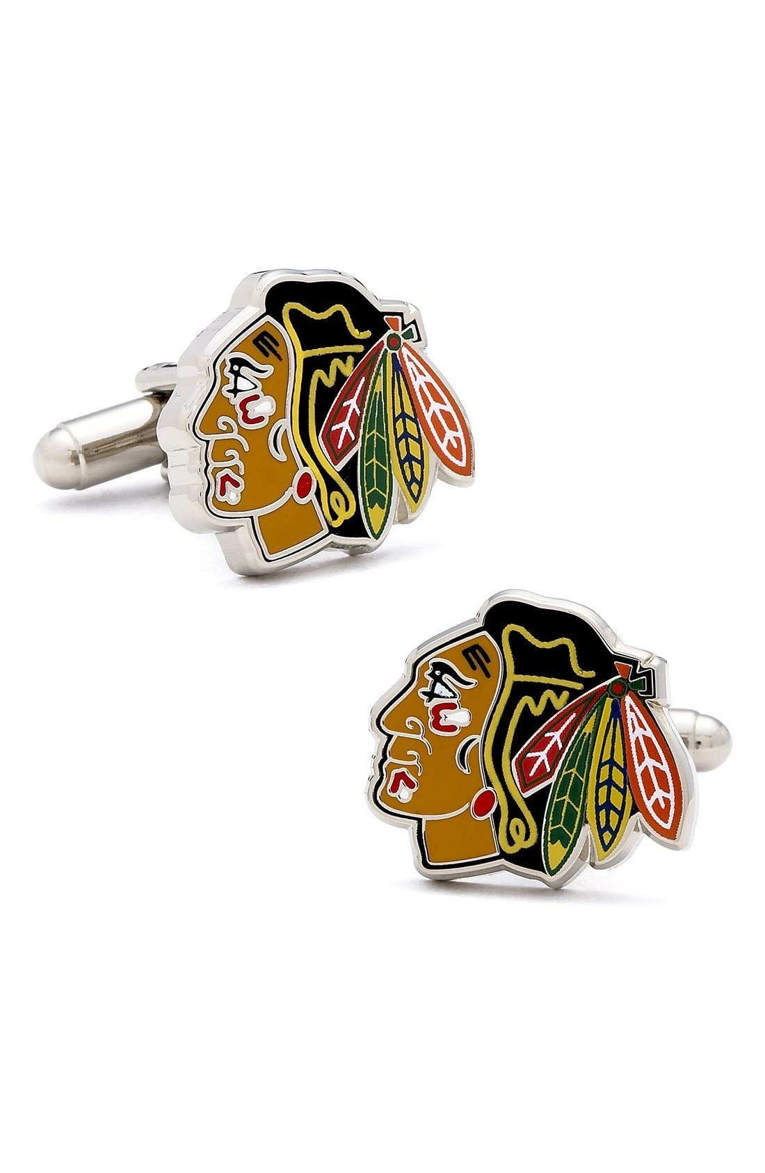 Main Image - Cufflinks, Inc. 'Chicago Blackhawks' Cuff Links