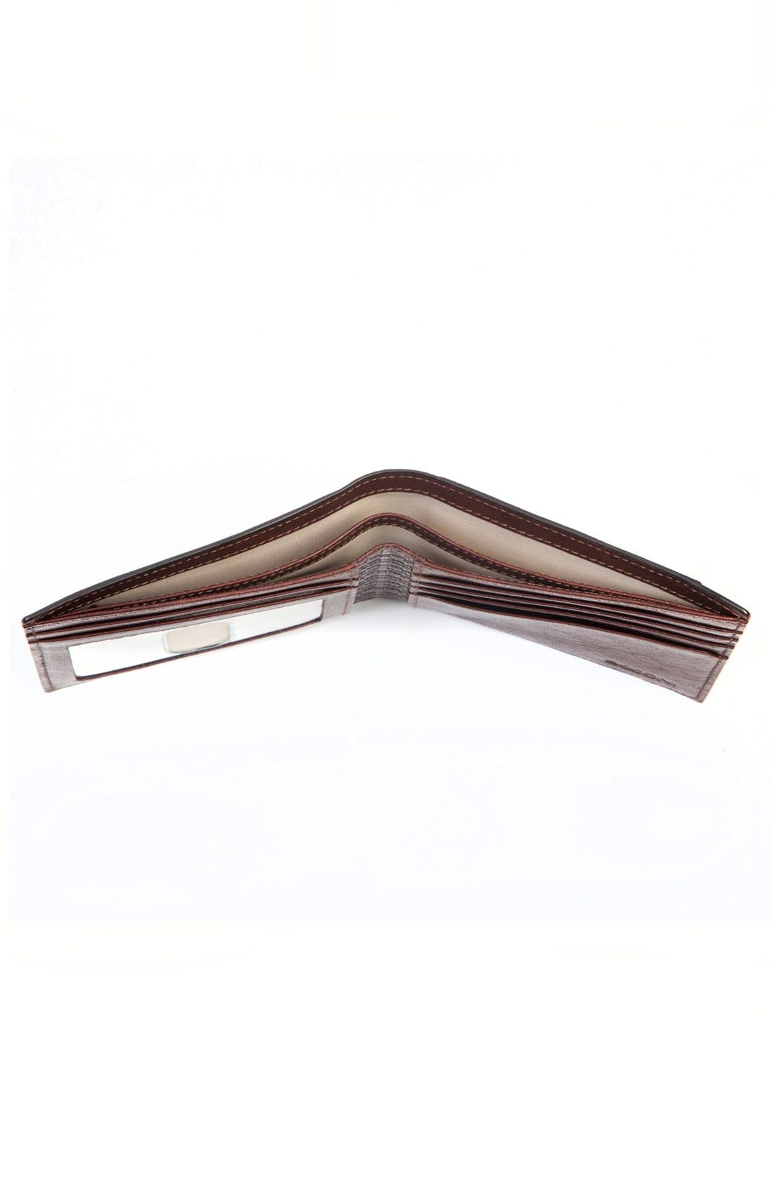 'Becker' Leather Wallet,                             Alternate thumbnail 3, color,                             Whiskey