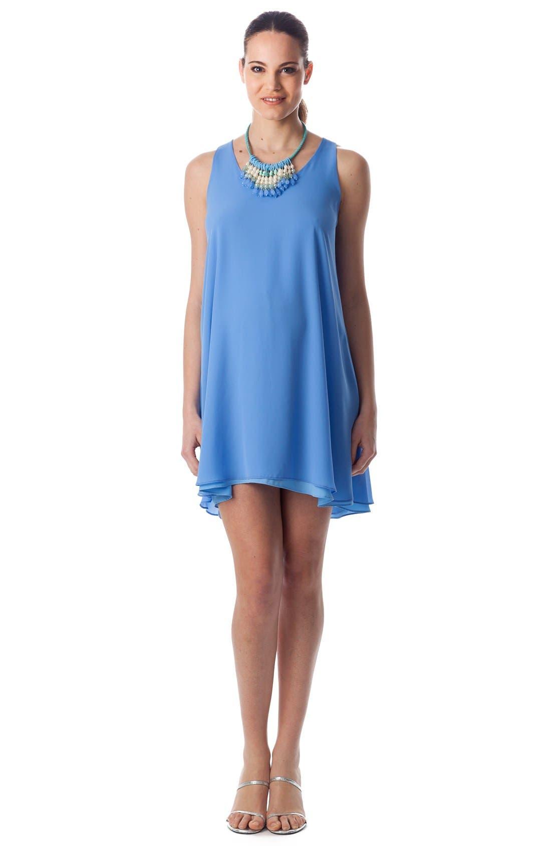 'Lago Di Como' High/Low Maternity Dress,                             Alternate thumbnail 5, color,                             Provence / Light Azure