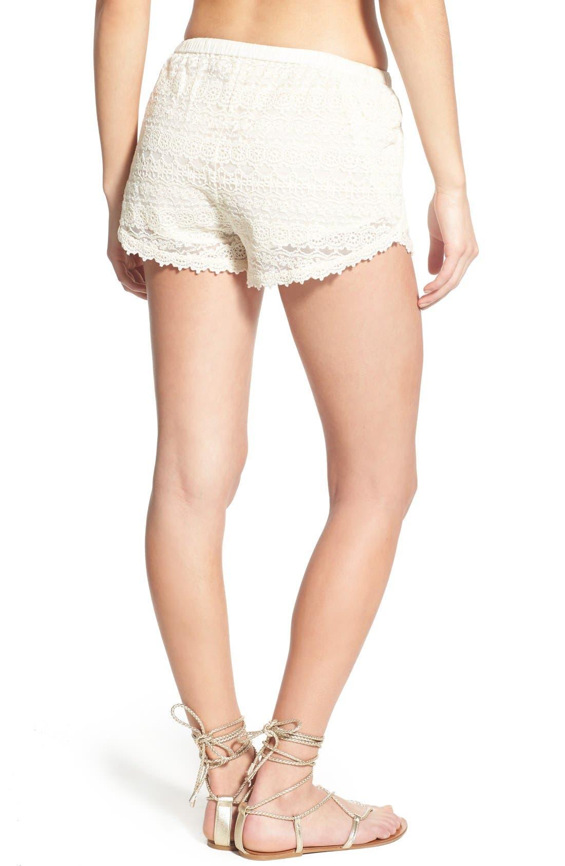Alternate Image 2  - Amuse Society 'Chelles' Lace Shorts