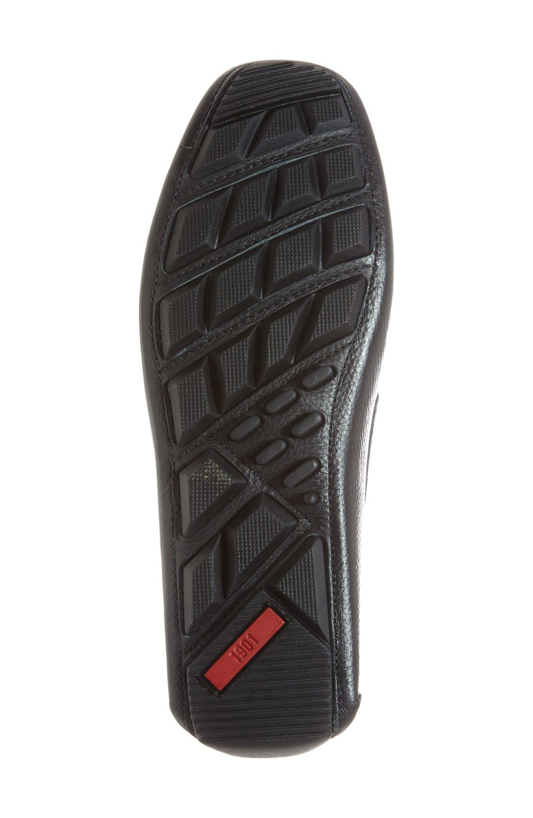 'Bermuda' Penny Loafer,                             Alternate thumbnail 4, color,                             Black Leather