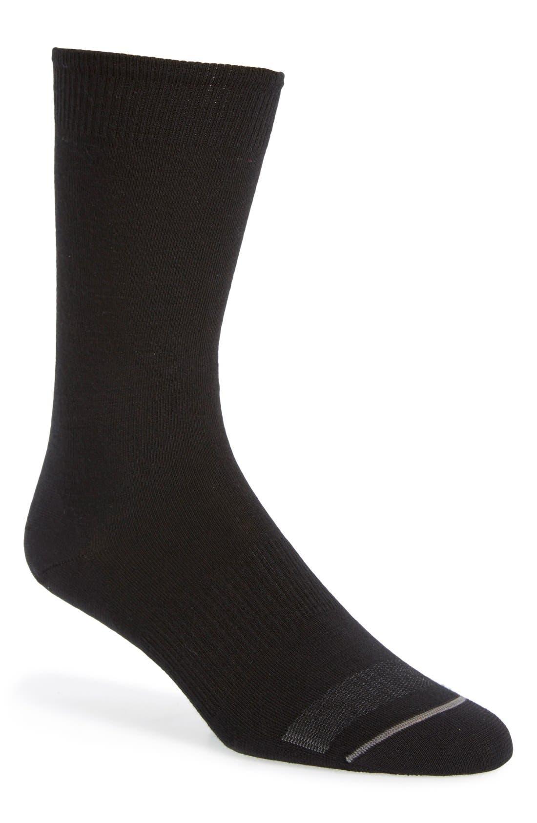 'Anchor Line' Merino Wool Blend Socks,                         Main,                         color, Black