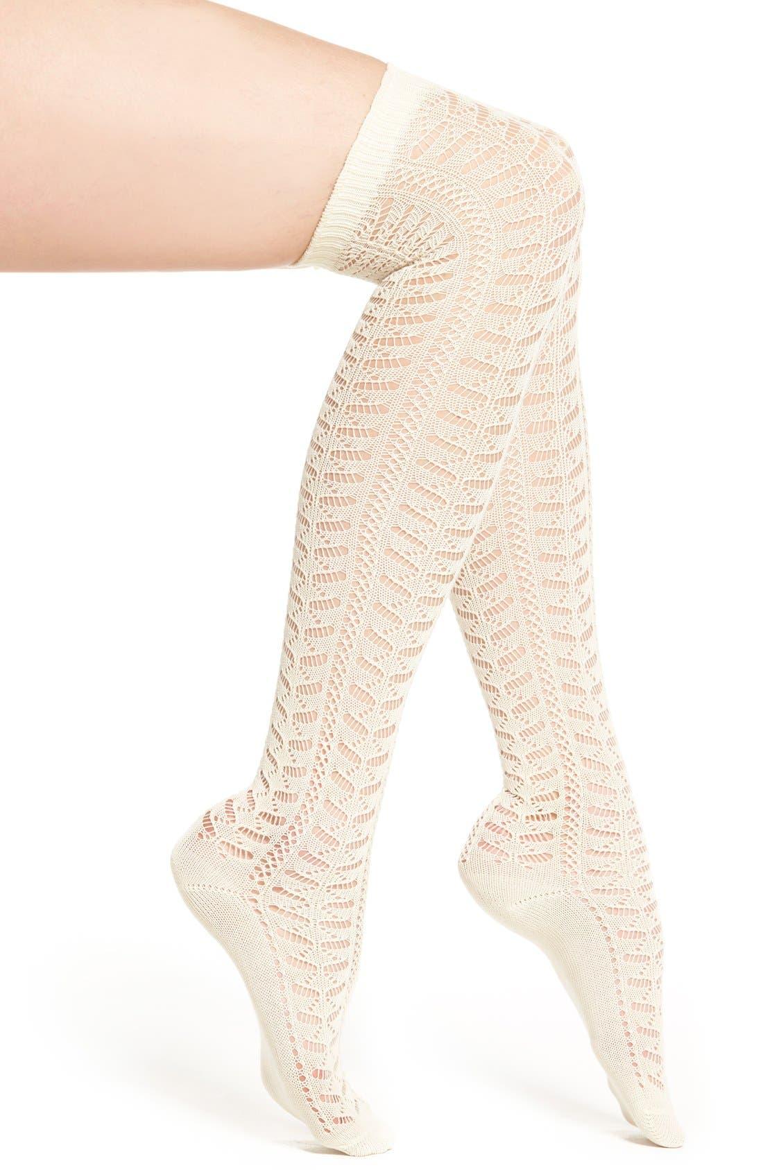 Alternate Image 1 Selected - Nordstrom Openwork Over the Knee Socks