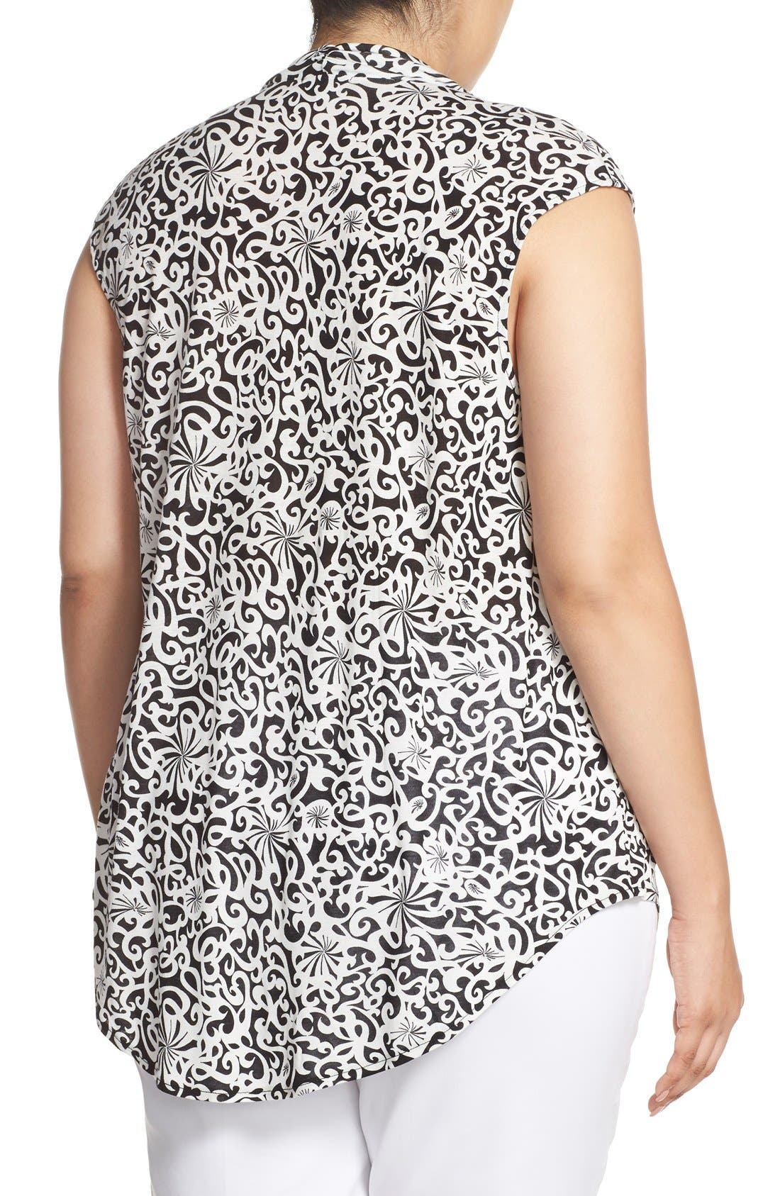 Alternate Image 2  - Halogen® Drape Neck Sleeveless Top (Plus Size)