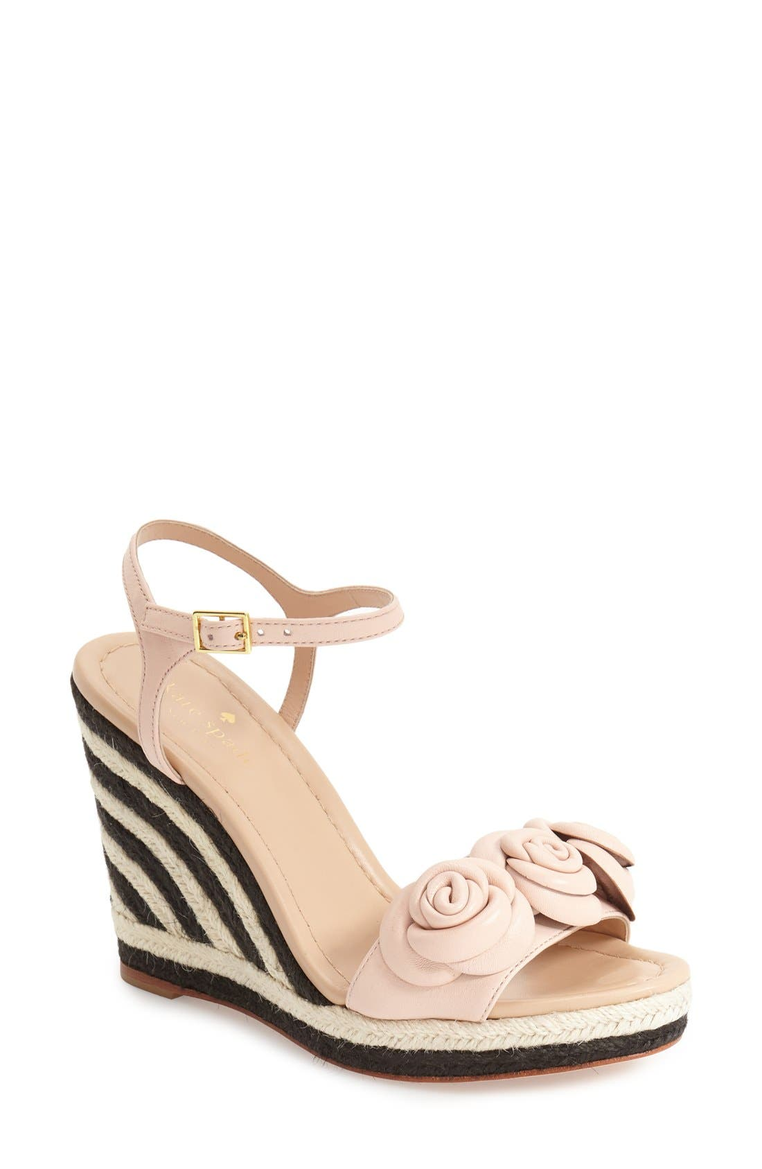 Alternate Image 1 Selected - kate spade new york 'jill' espadrille wedge sandal (Women)